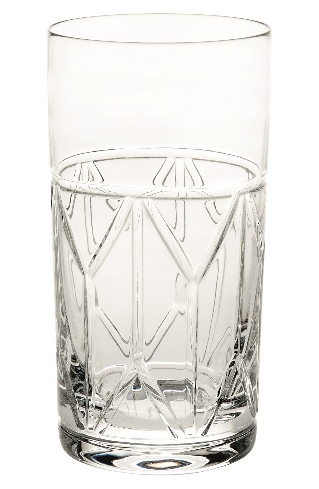 Avenue Lead Crystal Highball Glass,                             Main thumbnail 1, color,                             CLEAR