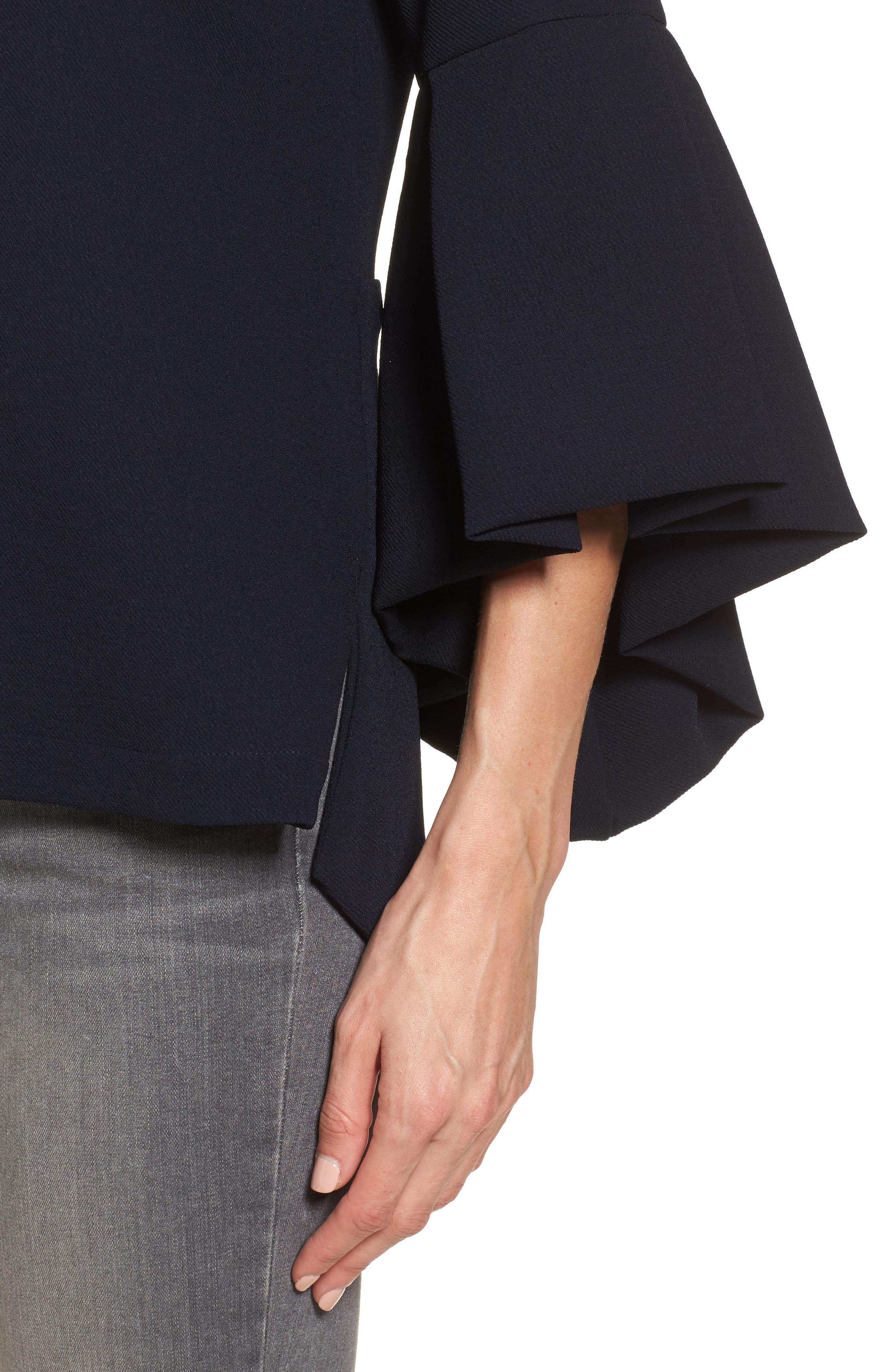 Bell Sleeve High/Low Top,                             Alternate thumbnail 4, color,                             410