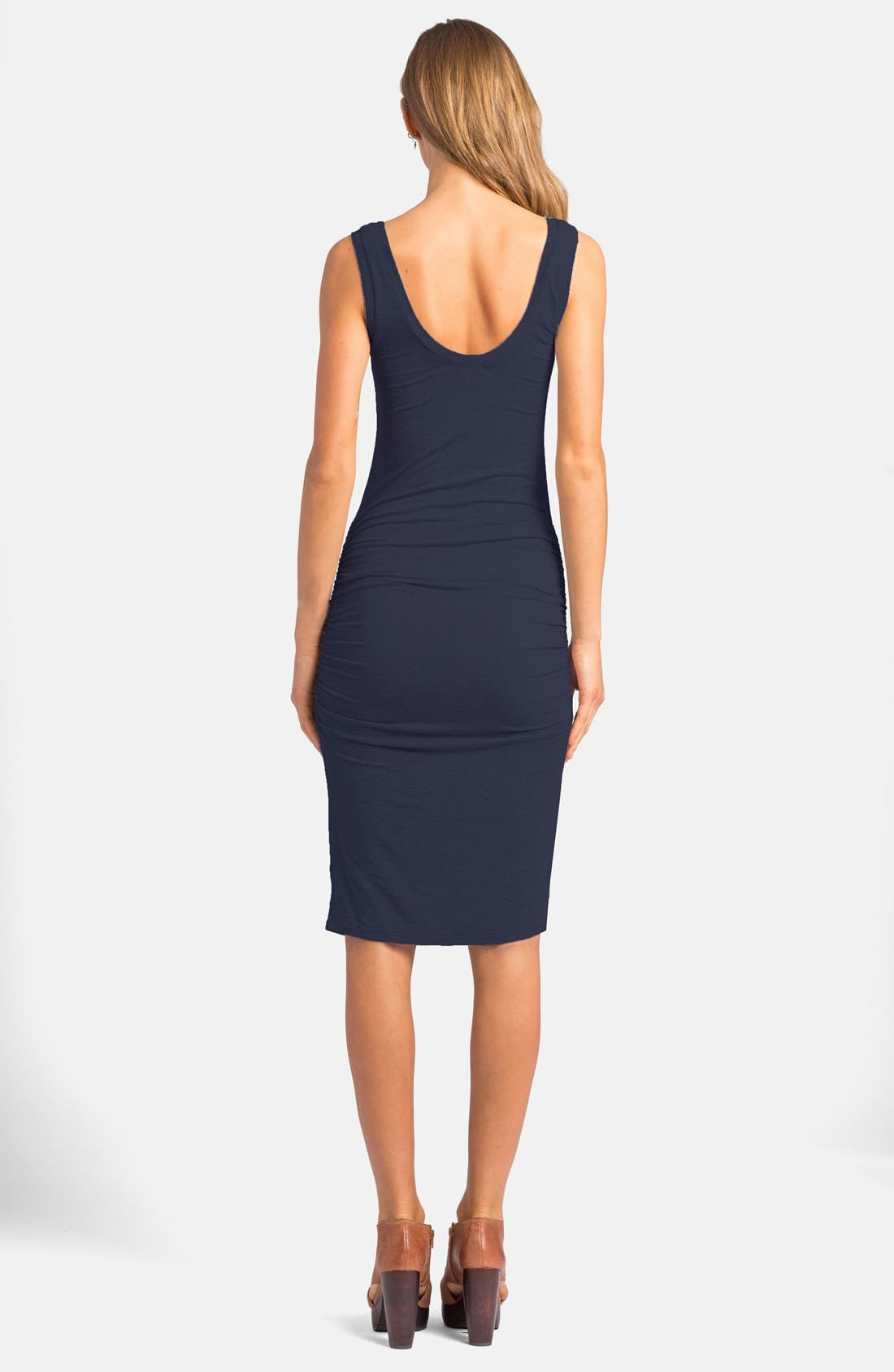 'Frankie' Ruched Tank Dress,                             Alternate thumbnail 14, color,