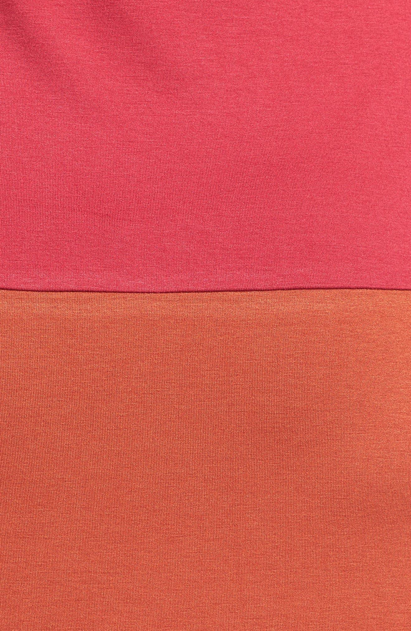 Keyhole Maternity Dress,                             Alternate thumbnail 5, color,                             BURGUNDY/ RUST