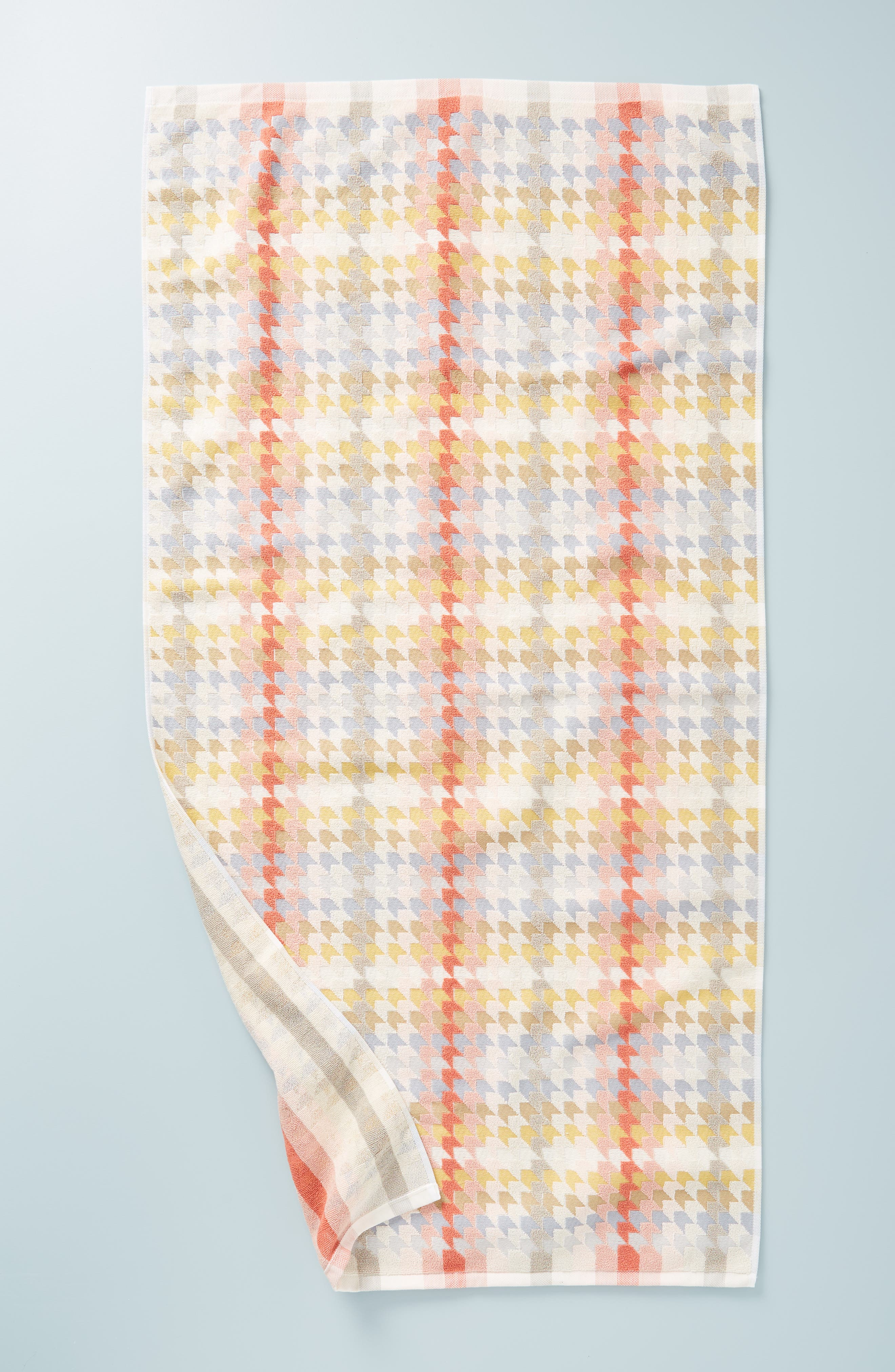 ANTHROPOLOGIE Noella Bath Towel, Main, color, ORANGE COMBO