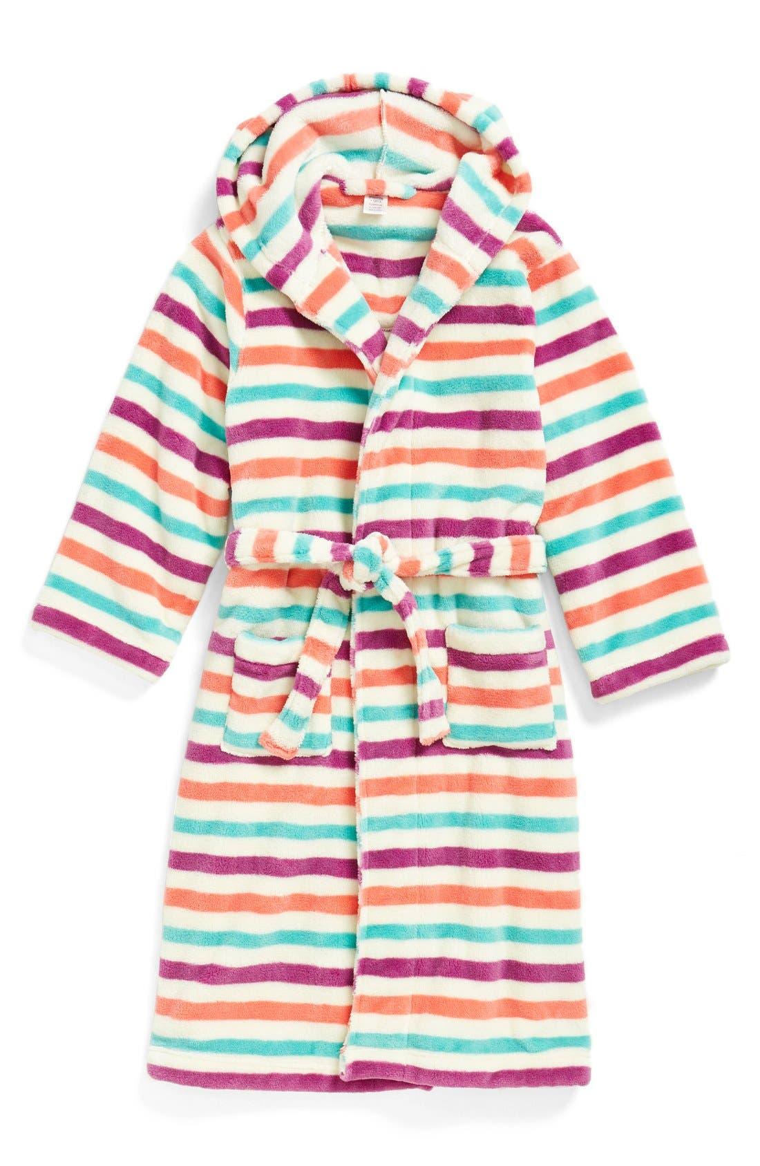 Girls Tucker  Tate Hooded Fleece Robe Size 23  Red