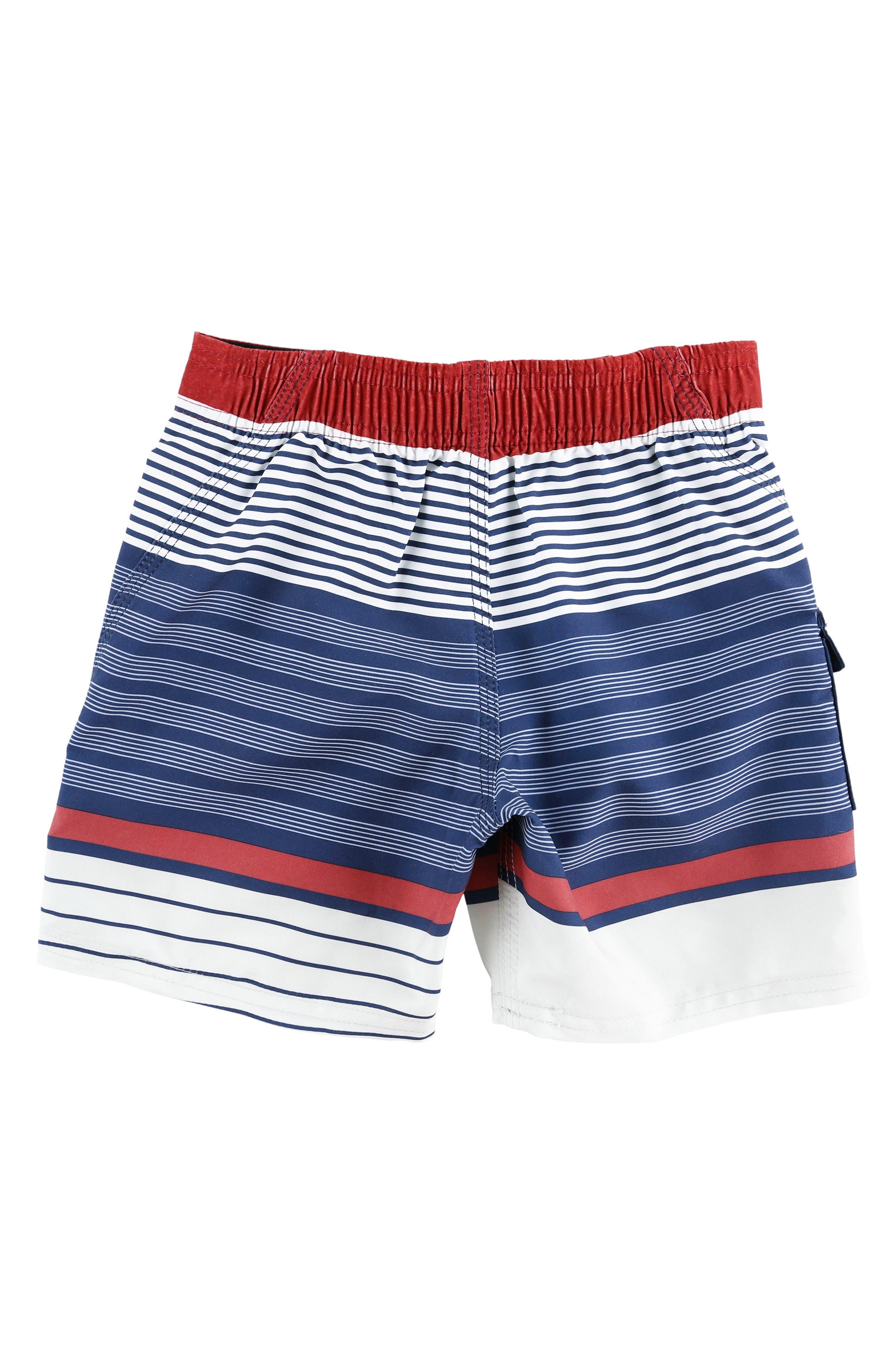 Lennox Stripe Board Shorts,                             Alternate thumbnail 7, color,