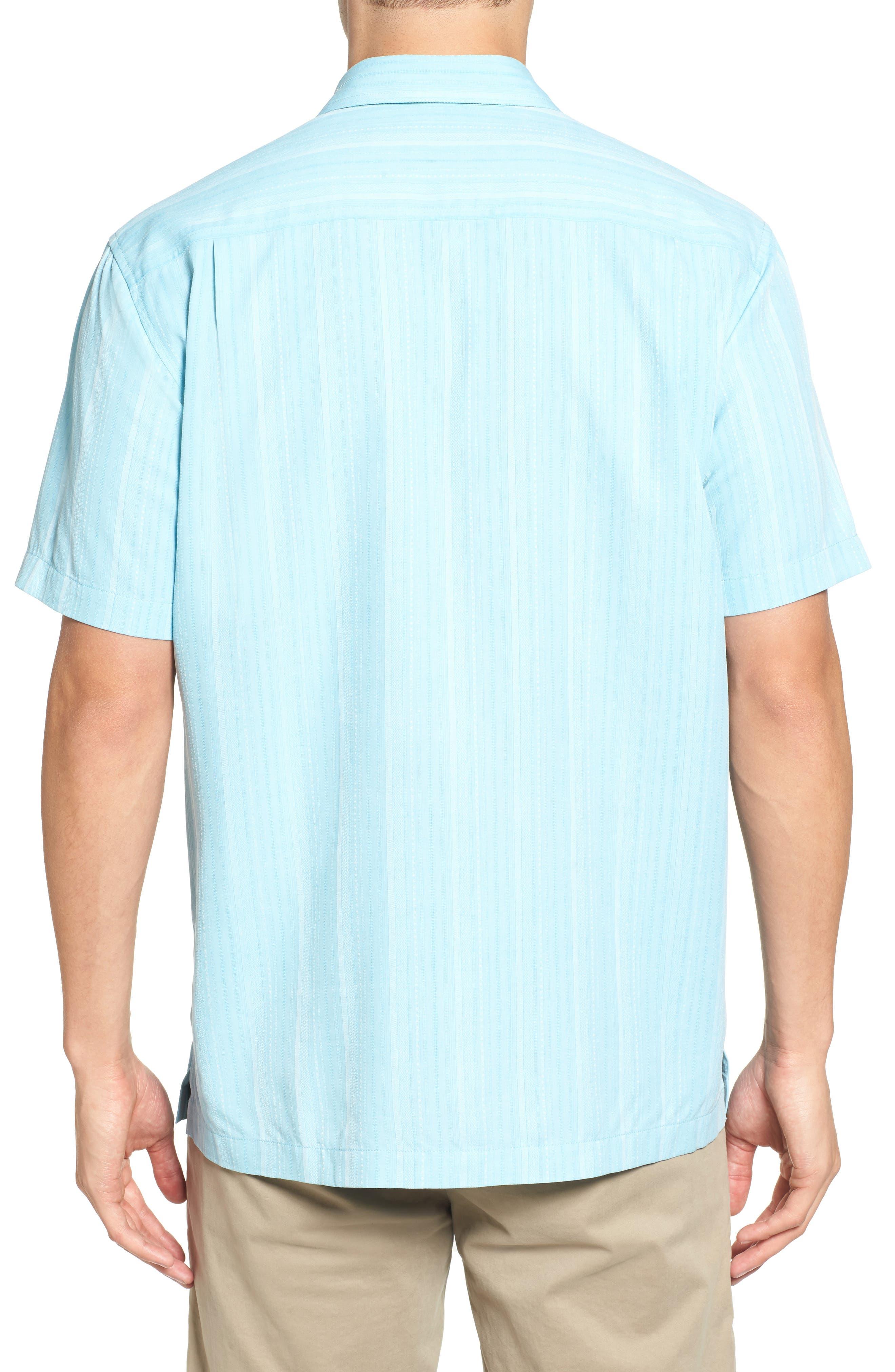Zaldera Stripe Silk Camp Shirt,                             Alternate thumbnail 6, color,