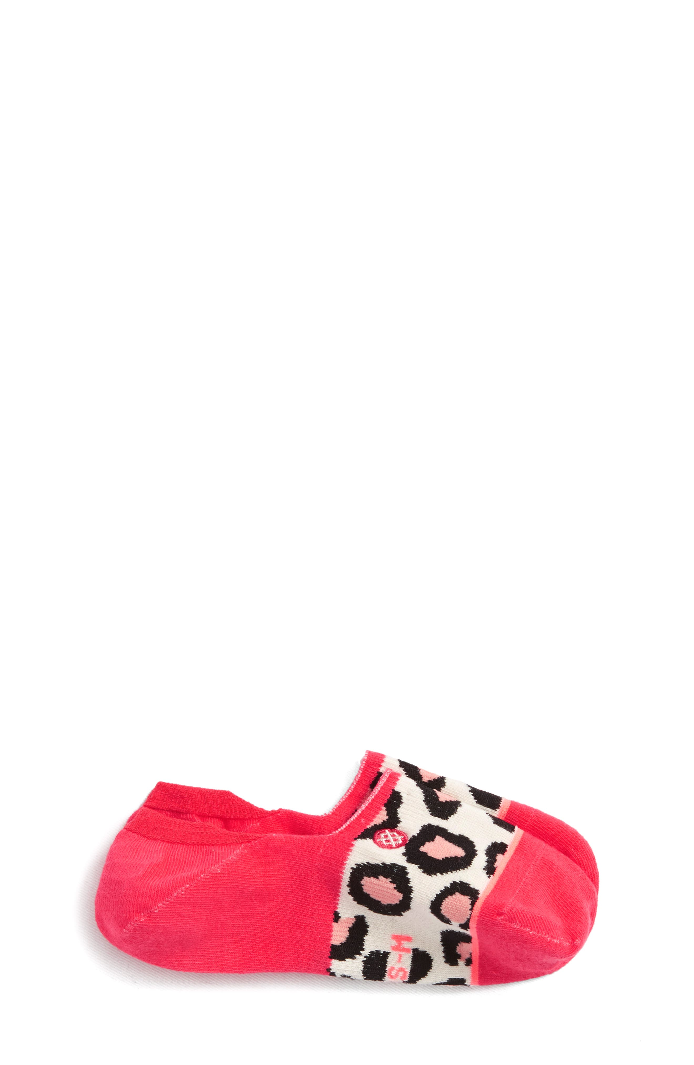 Right Meow No-Show Socks,                             Main thumbnail 1, color,                             RED