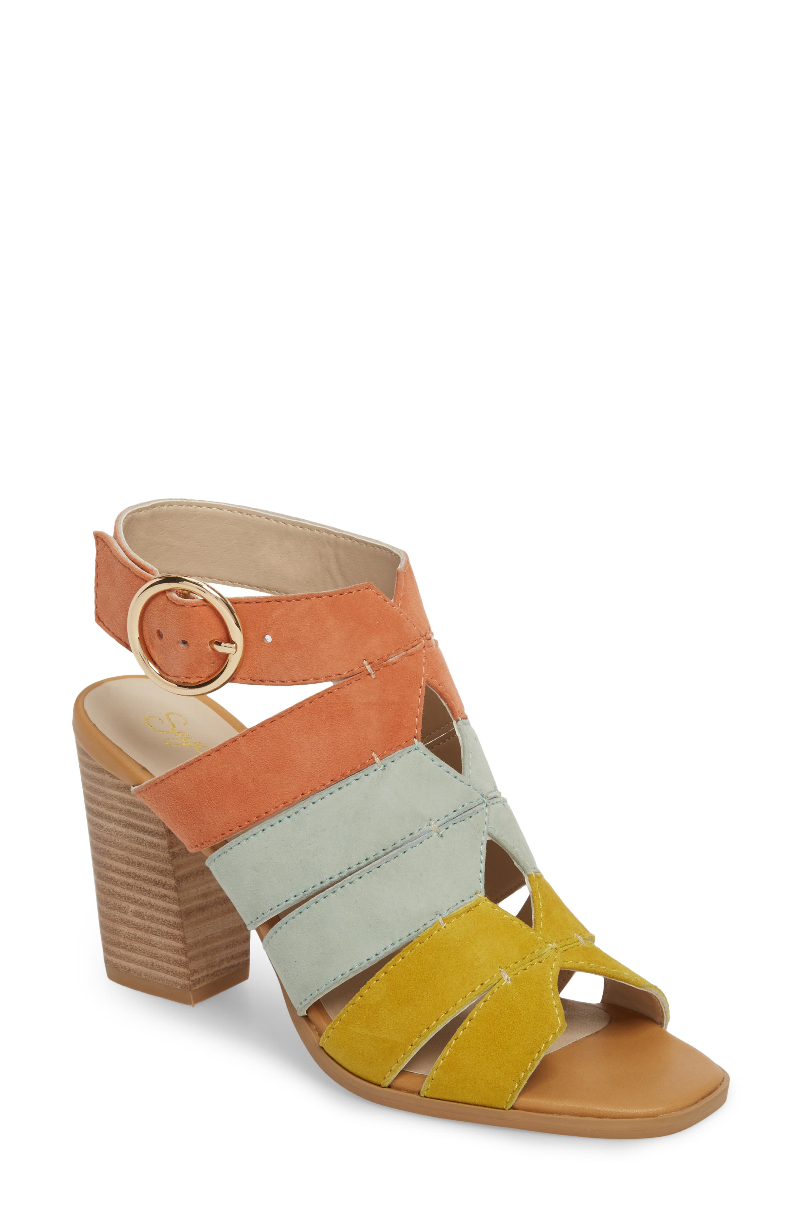 Completely Engaged Sandal,                         Main,                         color, PASTEL MULTI SUEDE