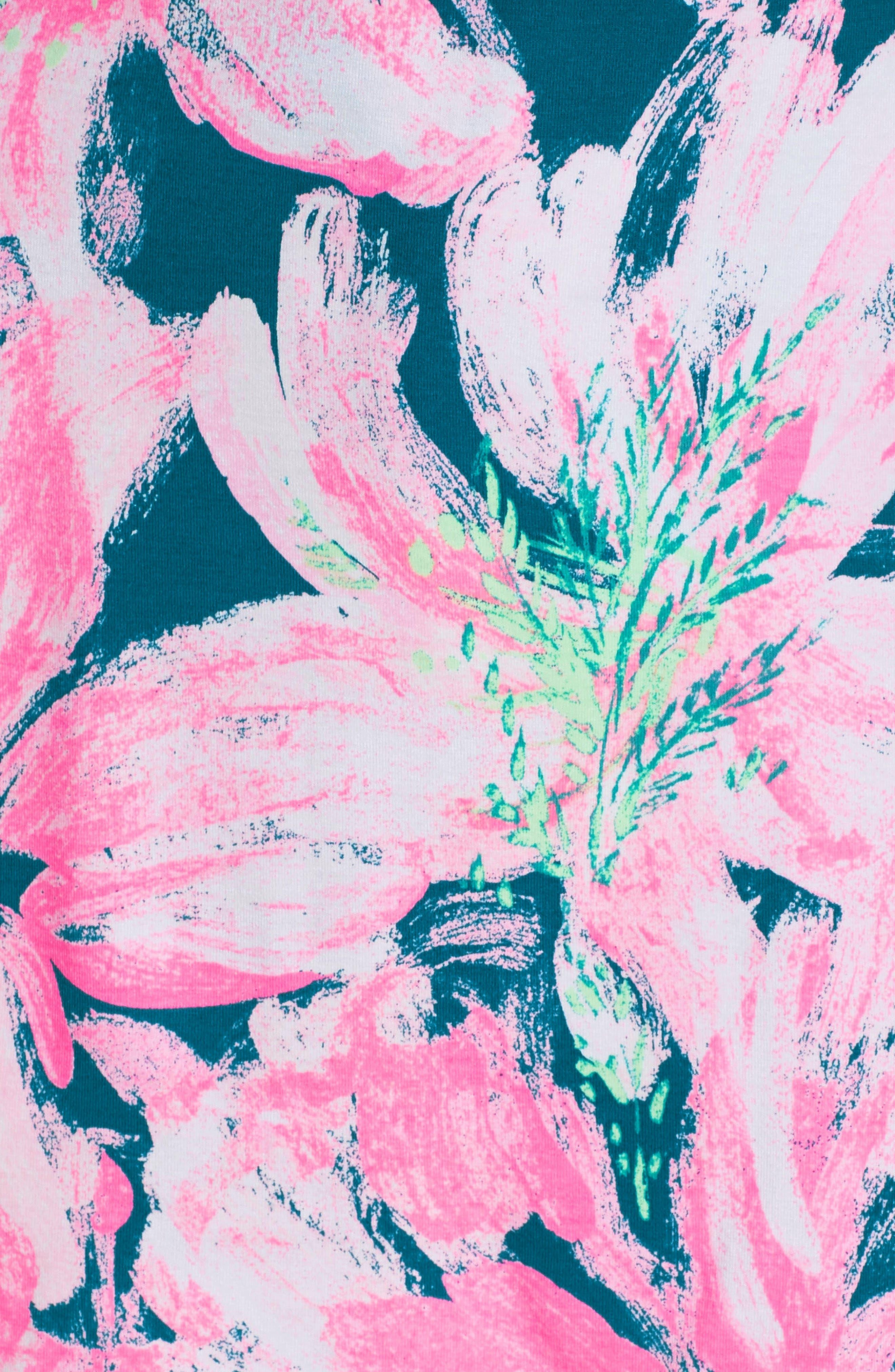 Karlie Wrap Romper,                             Alternate thumbnail 5, color,                             TIDAL WAVE PANS GARDEN