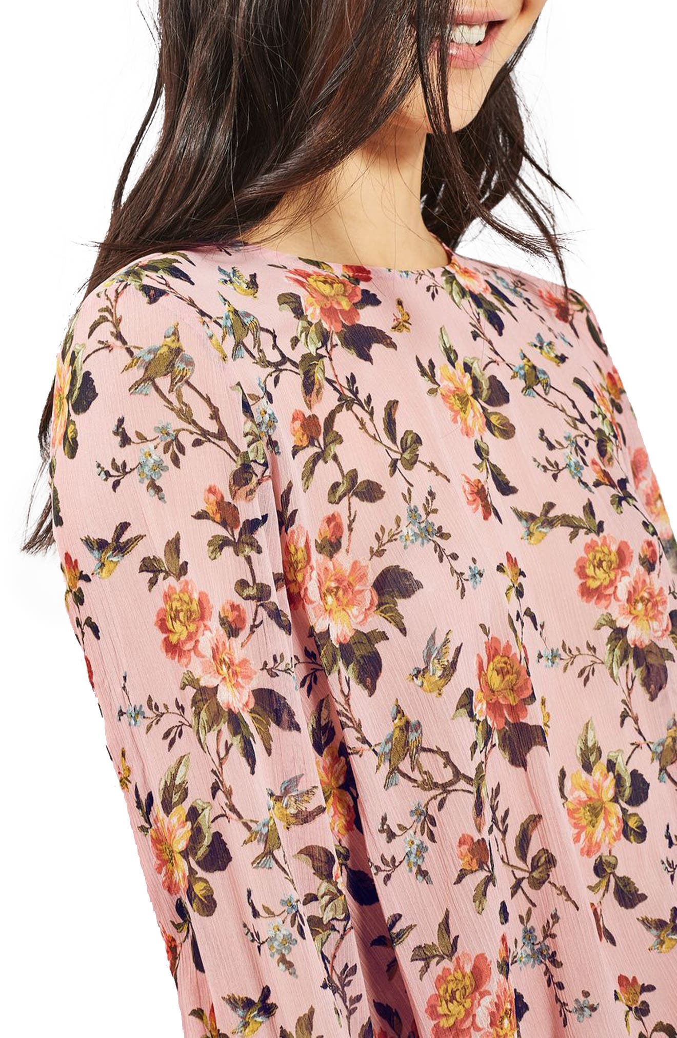Floral Trumpet Sleeve Blouse, Main, color, 650