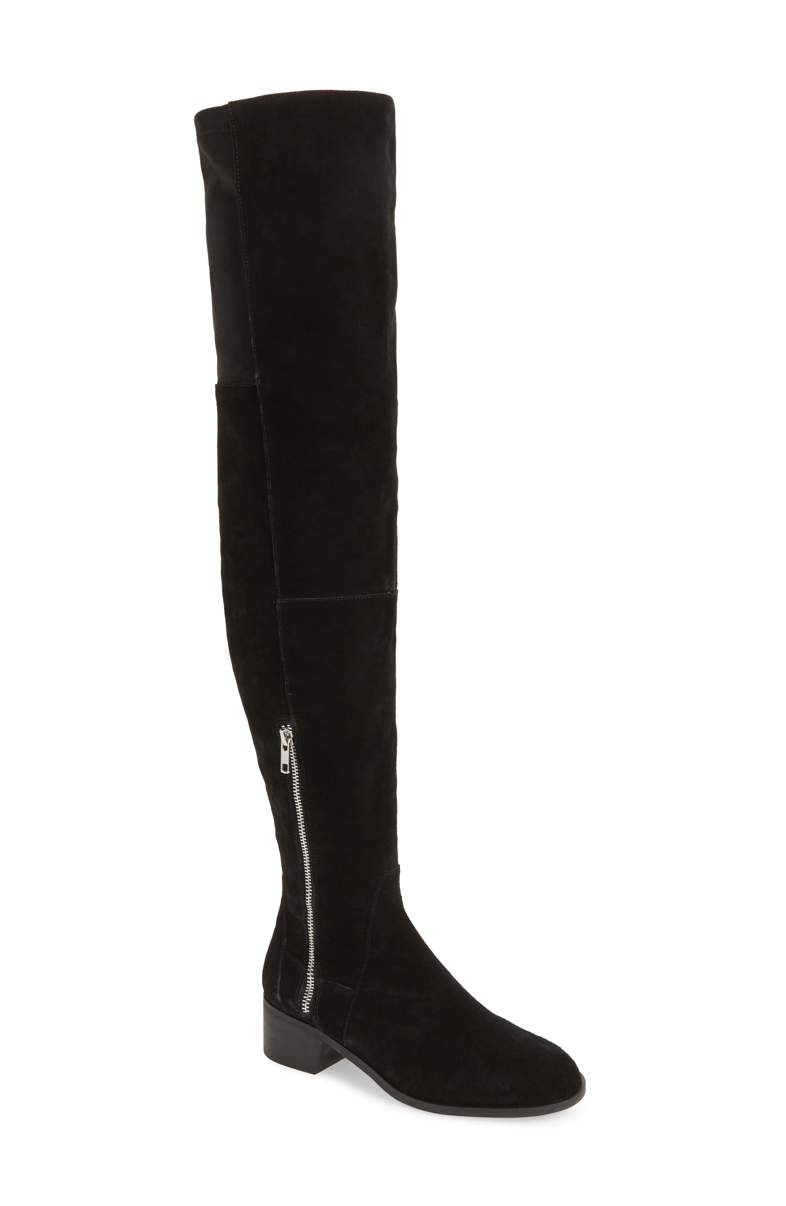 Everly Thigh High Boot,                             Main thumbnail 1, color,                             001