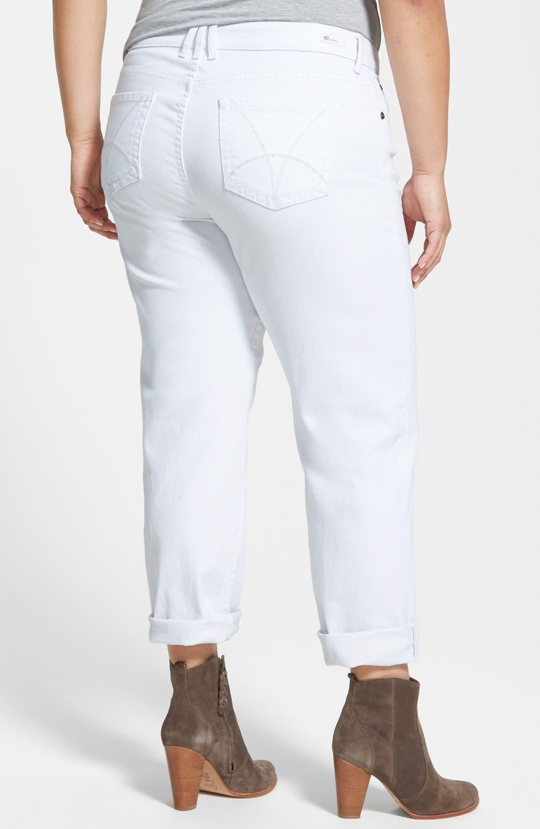 'Catherine' Boyfriend Jeans,                             Alternate thumbnail 3, color,                             WHITE