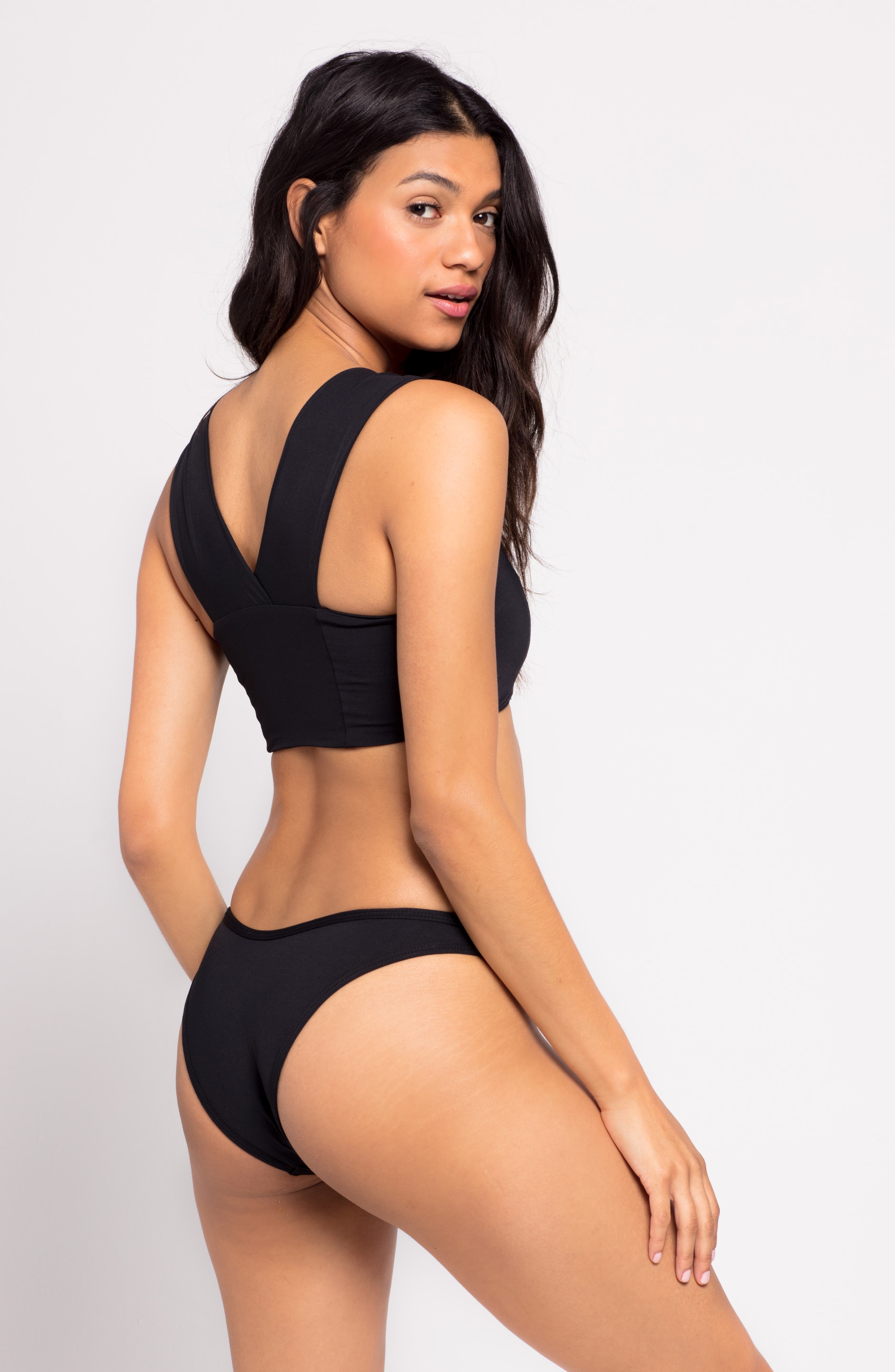 Parker Bikini Top,                             Alternate thumbnail 4, color,                             BLACK
