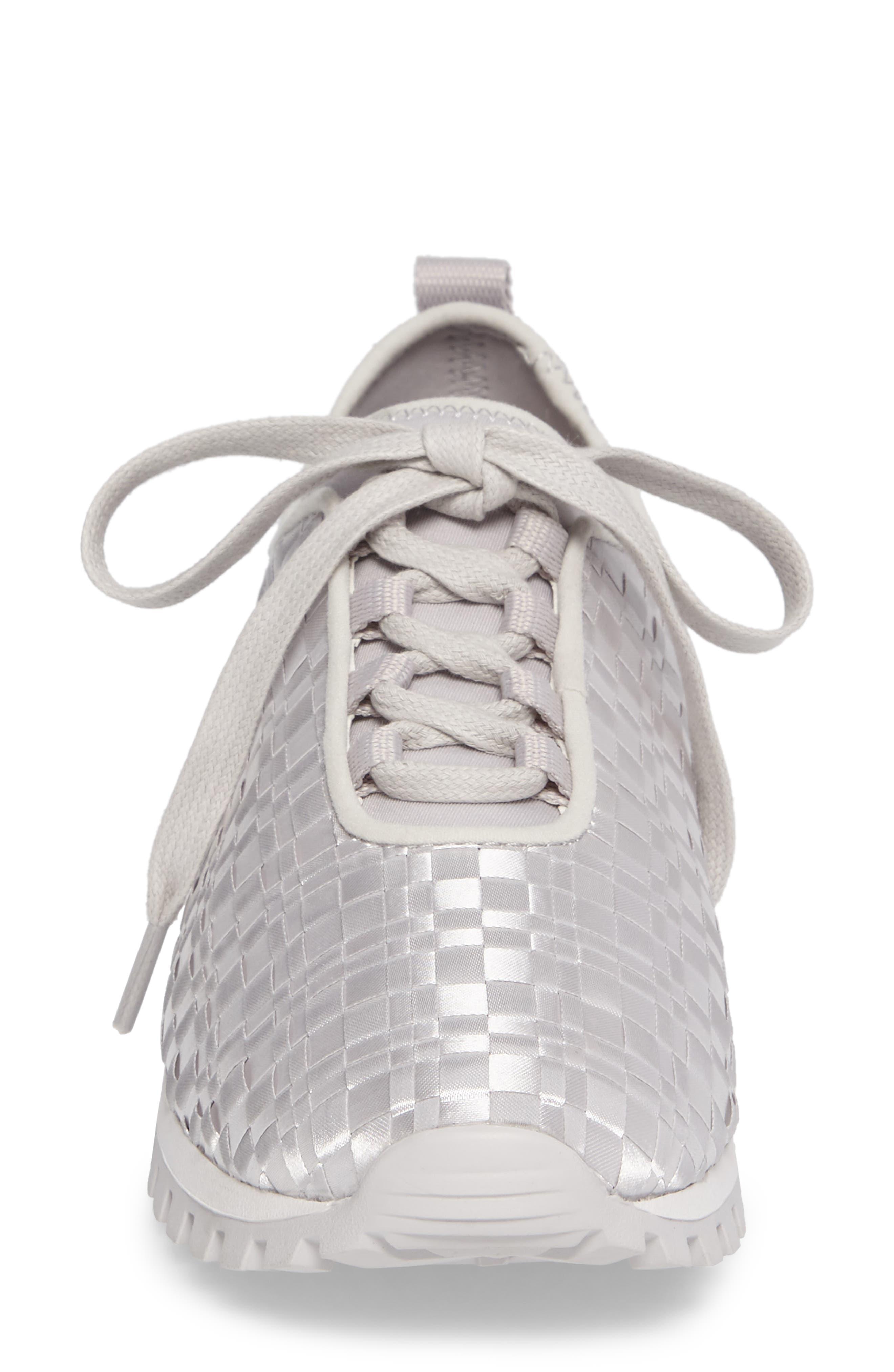 Lynn Sock Fit Woven Sneaker,                             Alternate thumbnail 4, color,                             074
