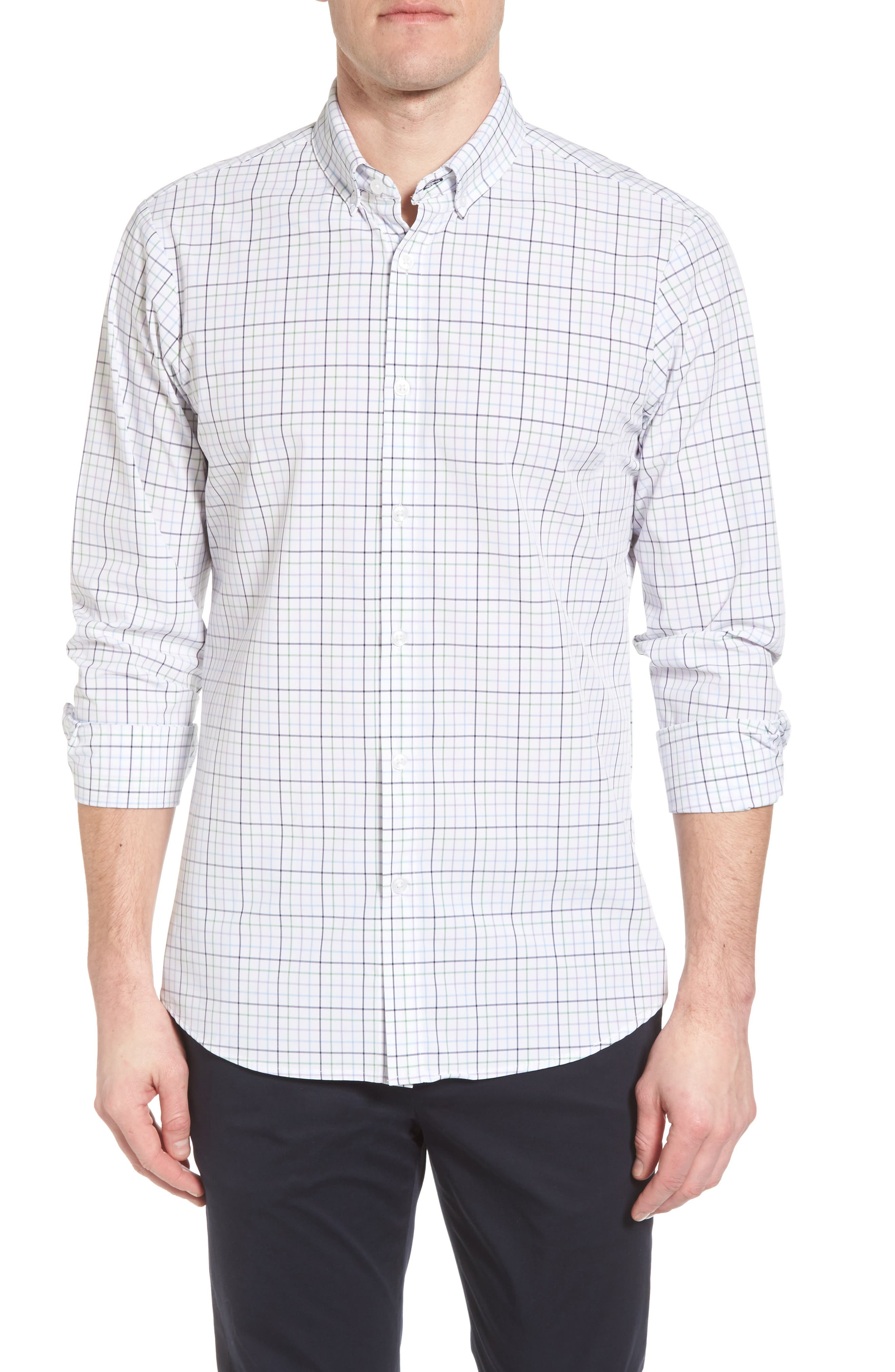 Robertson Check Performance Sport Shirt,                             Main thumbnail 1, color,                             585