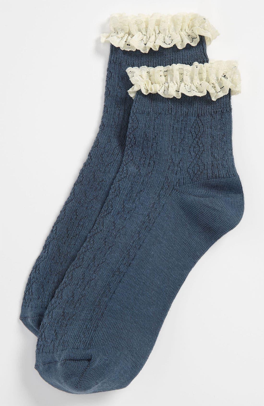 Lace Trim Ankle Socks,                             Main thumbnail 8, color,