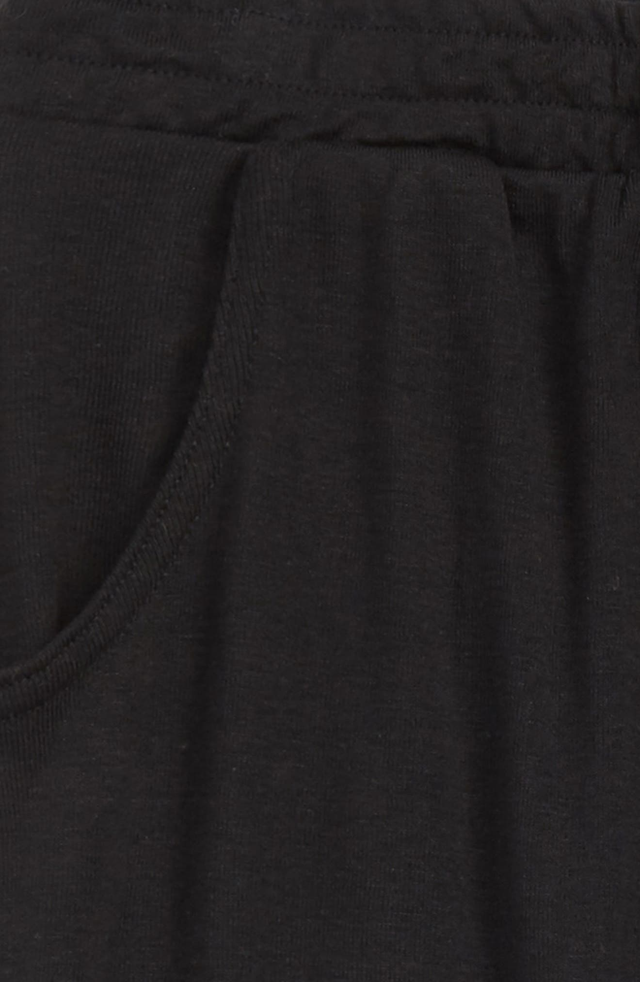 Stretch Cotton Jogger Pants,                             Alternate thumbnail 2, color,                             BLACK