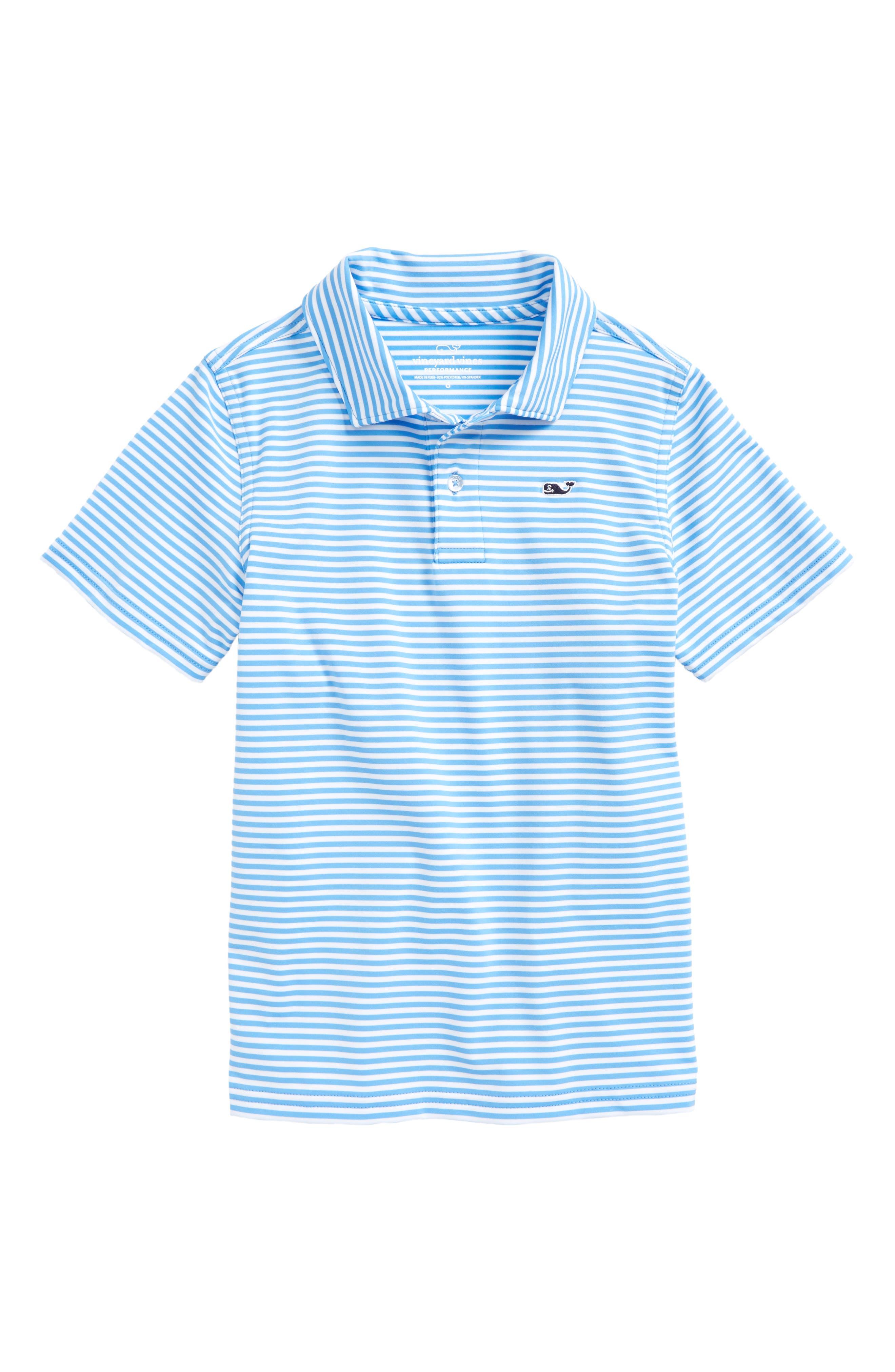 Color & Color Feeder Stripe Performance Polo,                         Main,                         color, 484