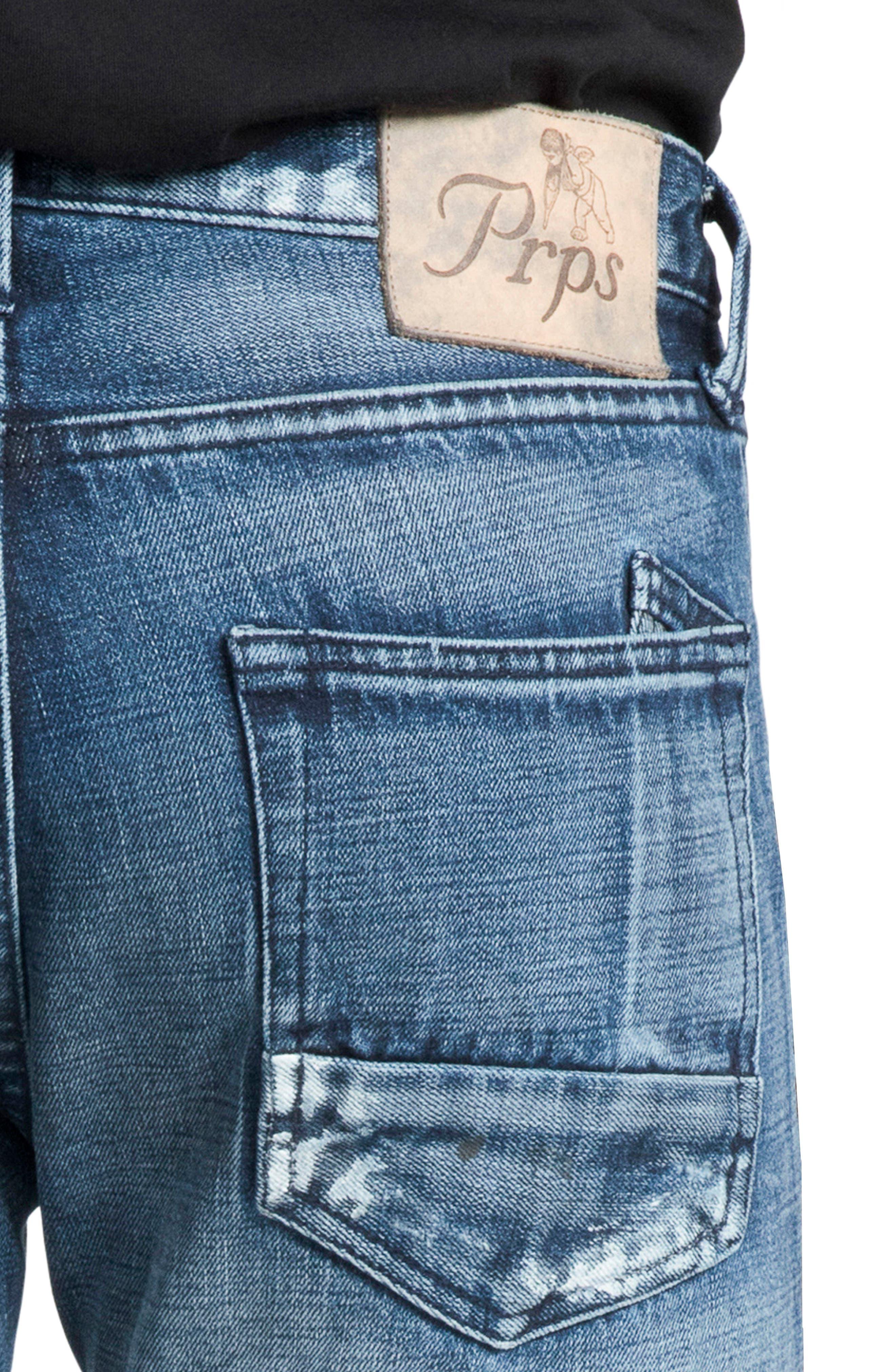 Le Sabre Slim Fit Jeans,                             Alternate thumbnail 4, color,                             PERPETUAL