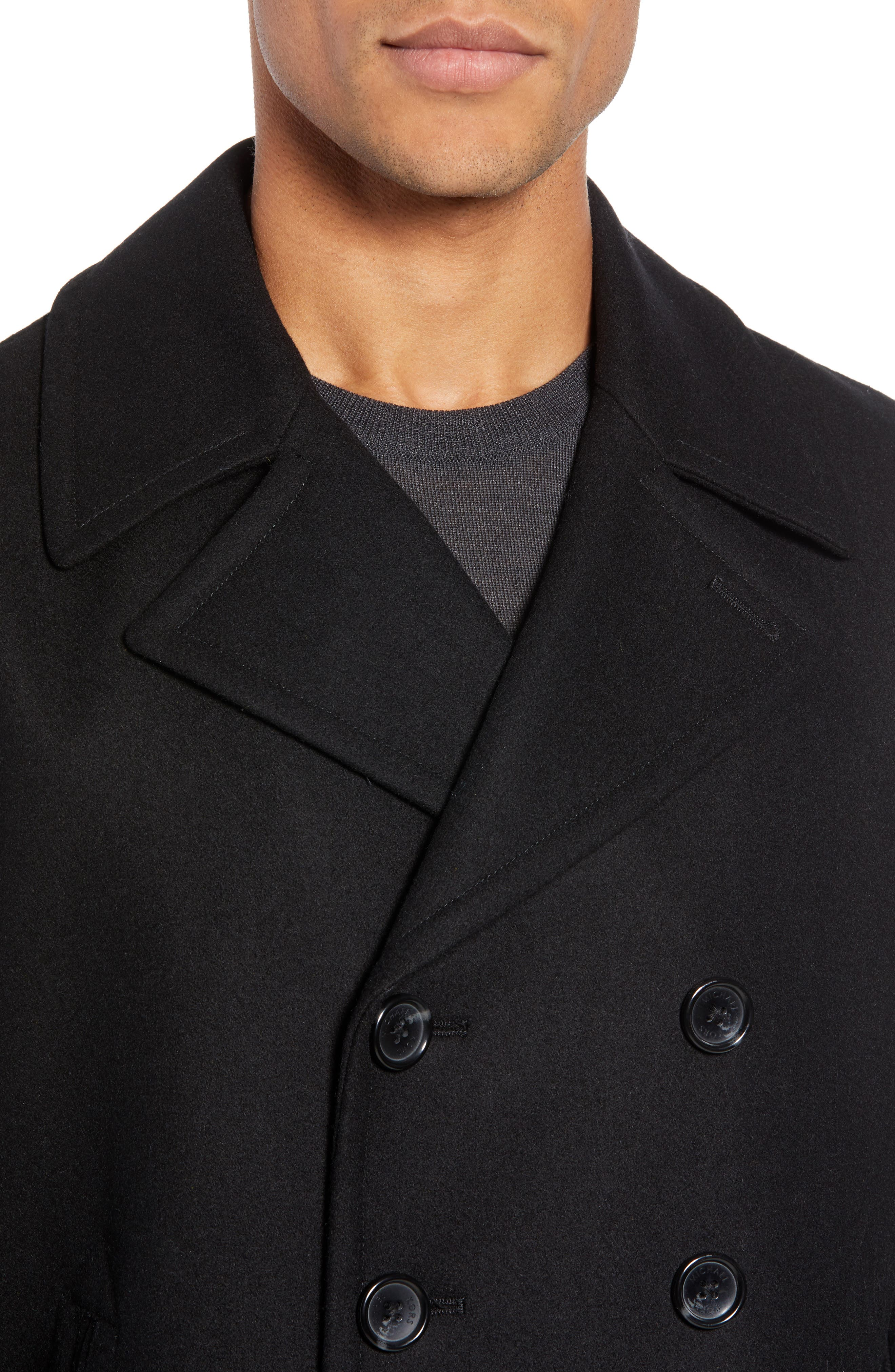 Wool Blend Double Breasted Peacoat,                             Alternate thumbnail 66, color,