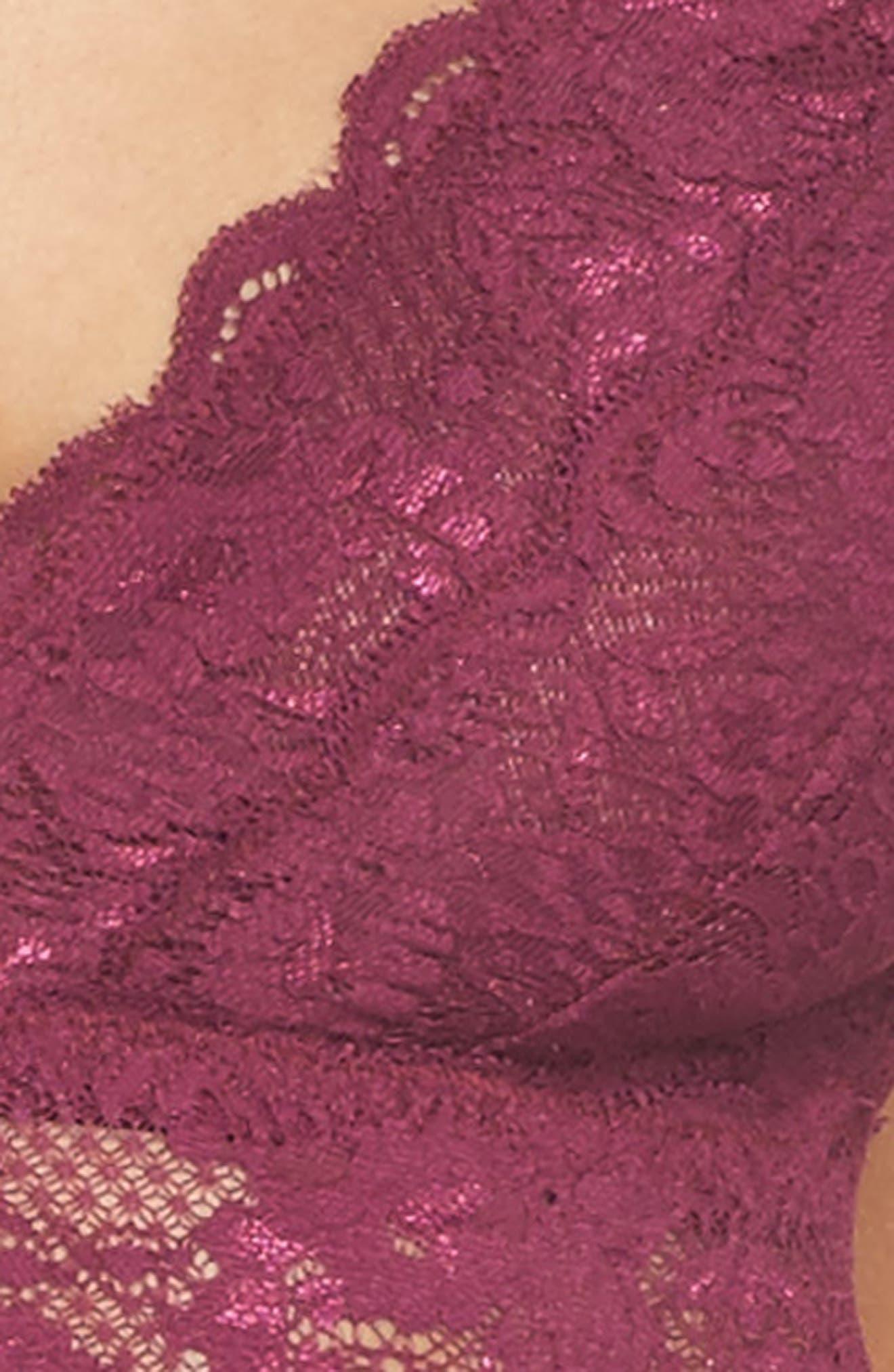Plunging Lace Bralette,                             Alternate thumbnail 30, color,