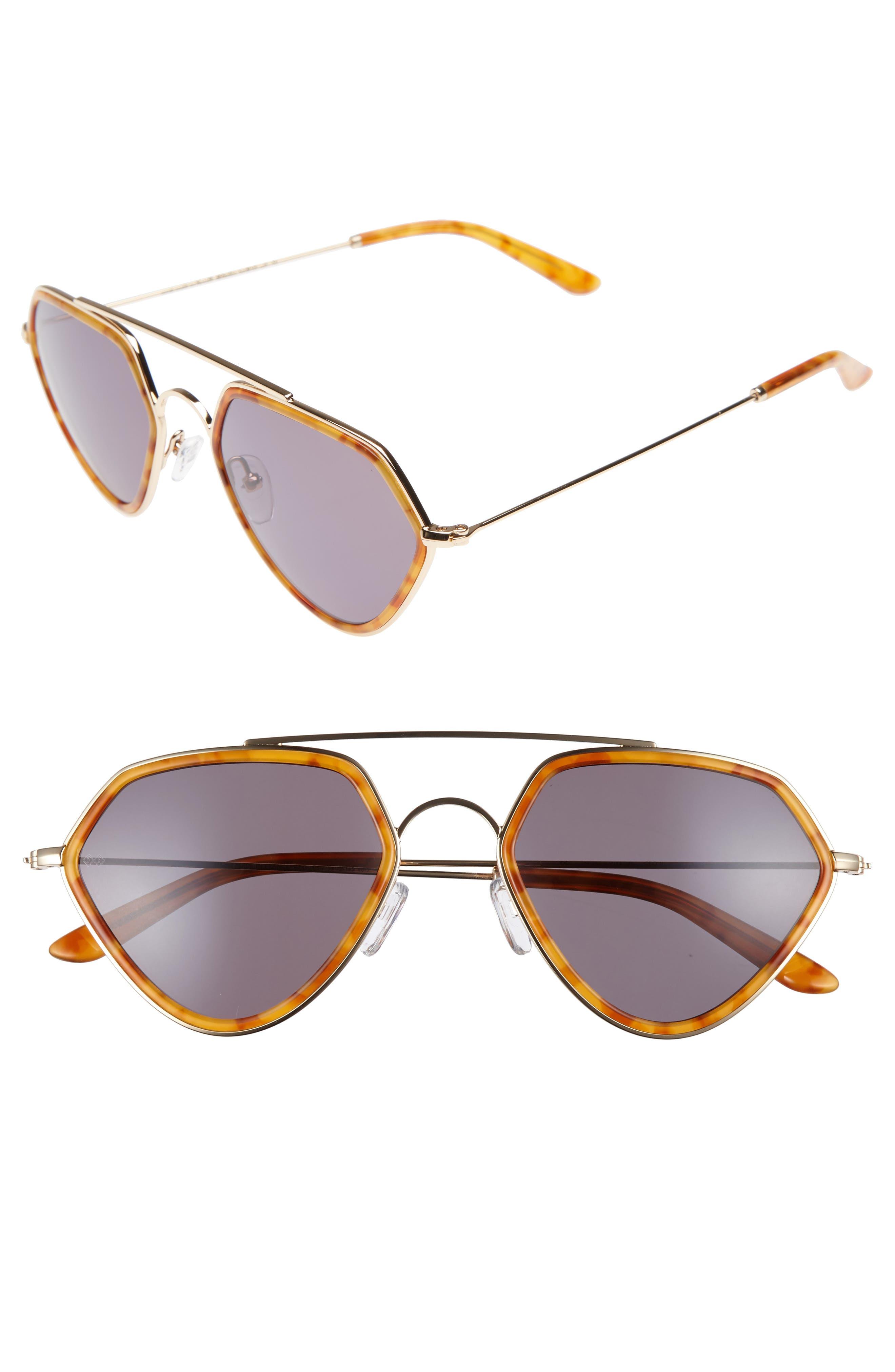 Geo 2 53mm Retro Sunglasses,                             Main thumbnail 1, color,                             206