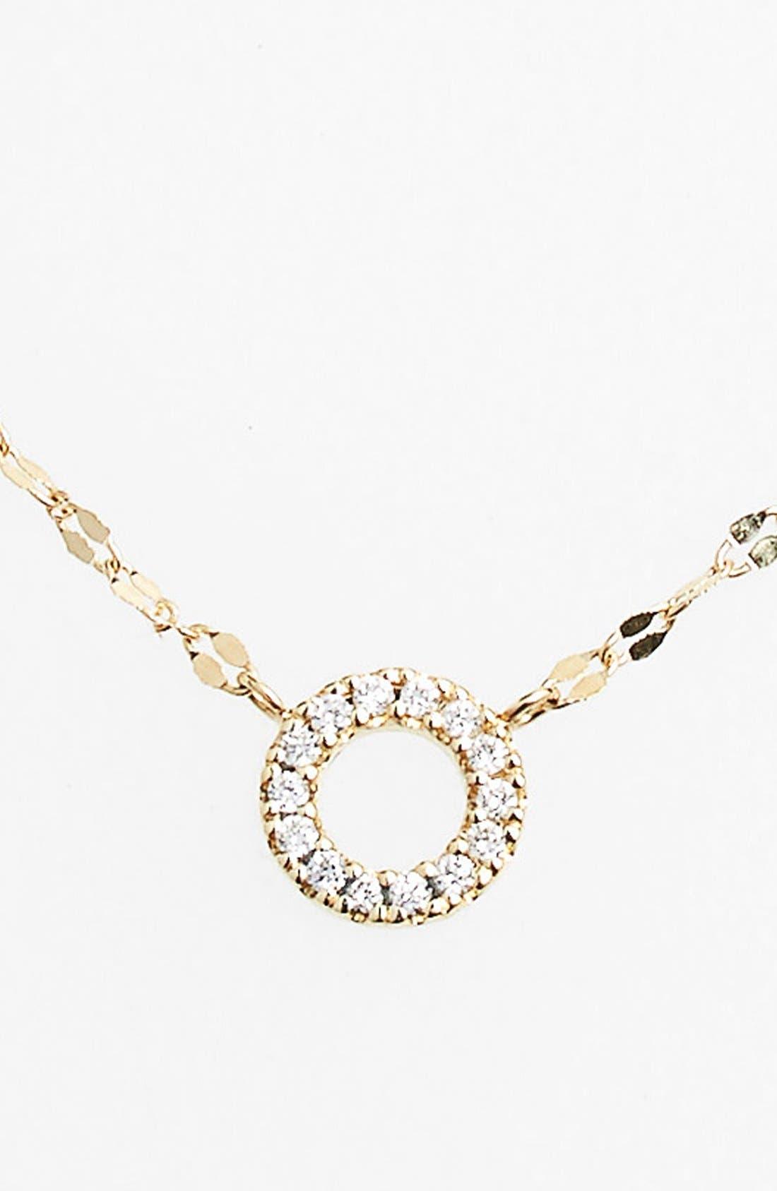 Diamond Pendant Necklace,                         Main,                         color, DIAMOND CIRCLE