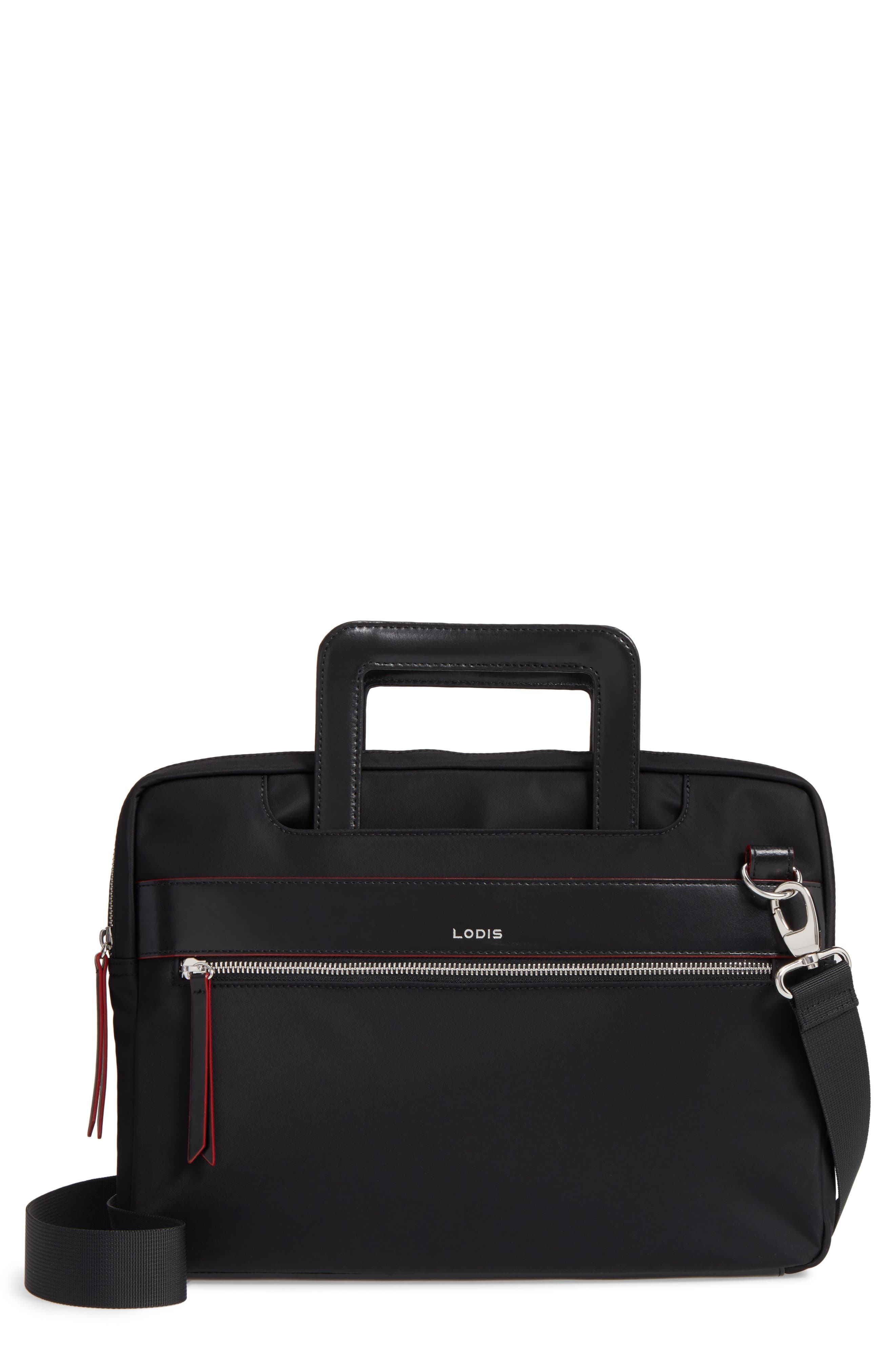 Kate Under Lock & Key Cora Laptop Crossbody Bag,                             Main thumbnail 1, color,