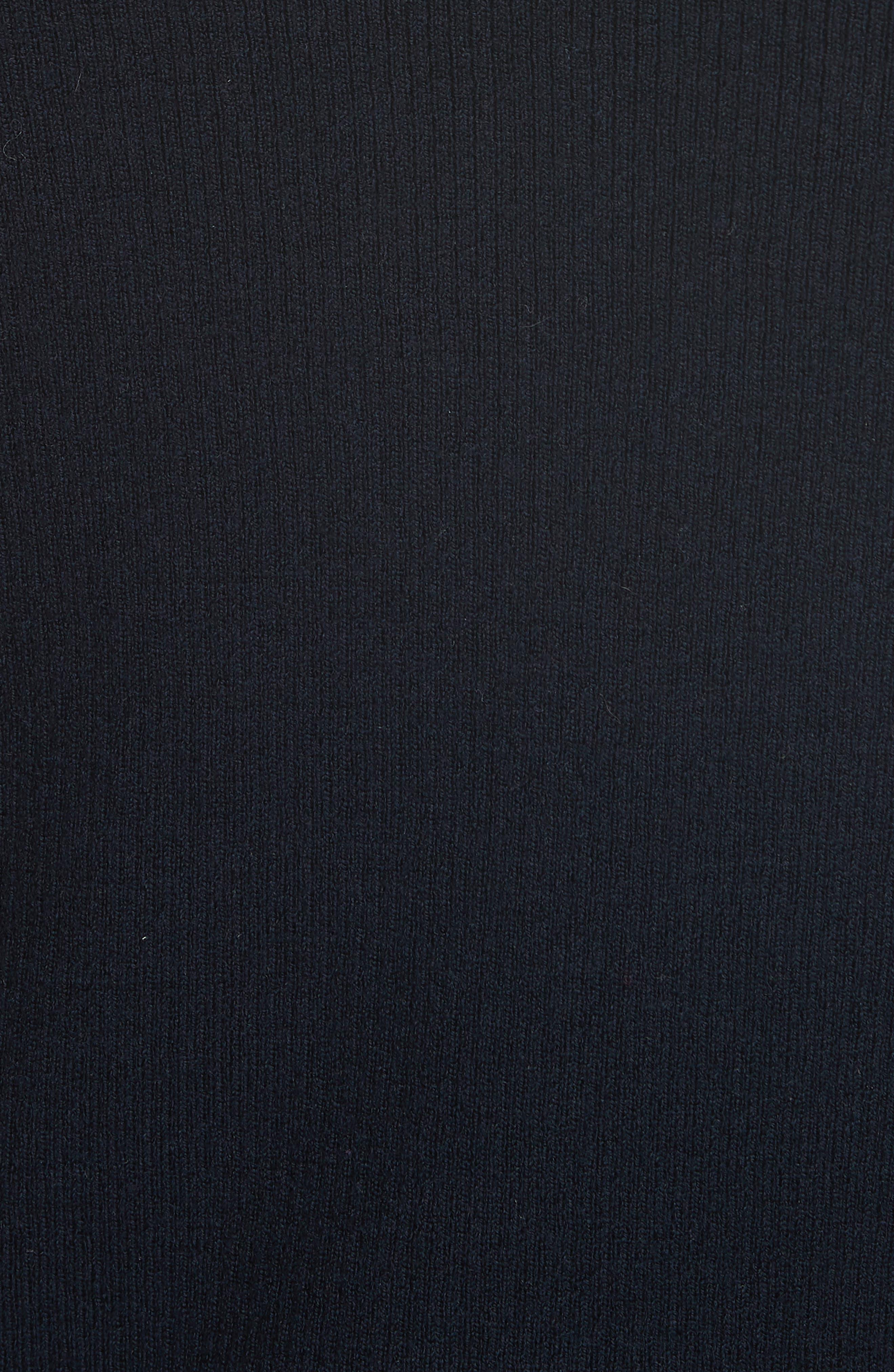 Laura Rib Knit Sweater & Silk Scarf,                             Alternate thumbnail 6, color,                             405