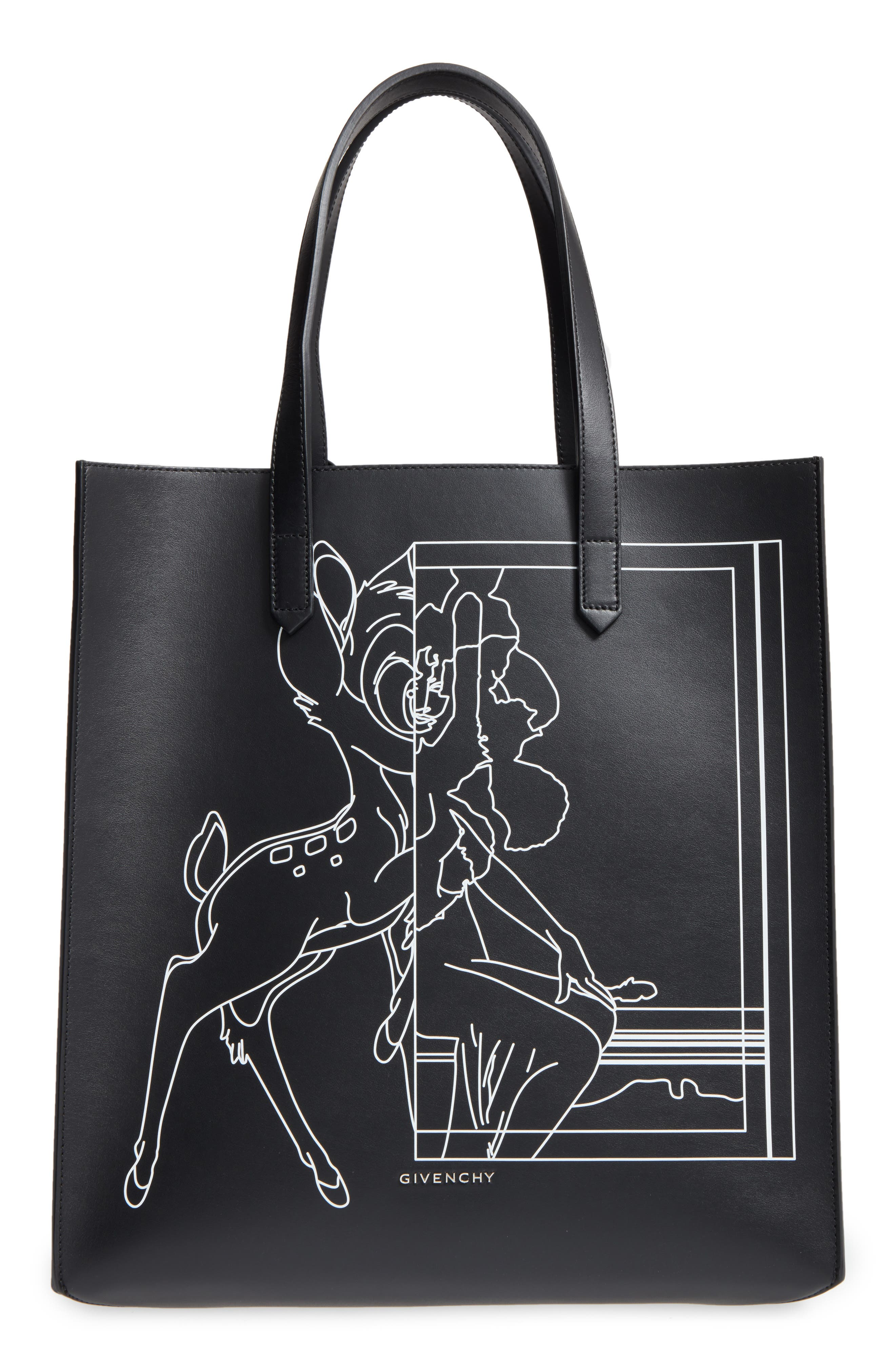 Medium Stargate Bambi<sup>™</sup> Leather Tote,                             Main thumbnail 1, color,                             001