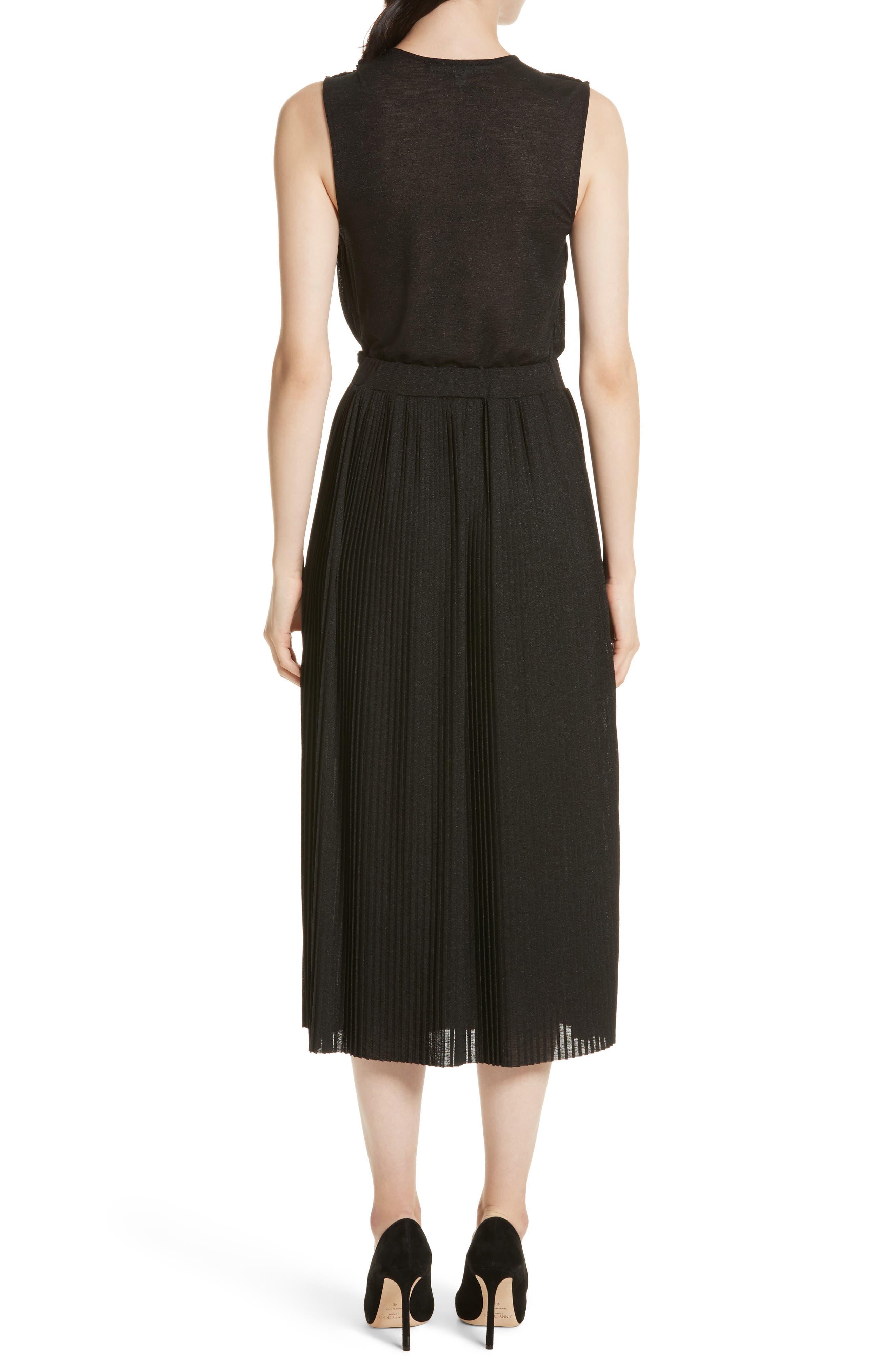 Surplice Fit & Flare Dress,                             Alternate thumbnail 2, color,                             001