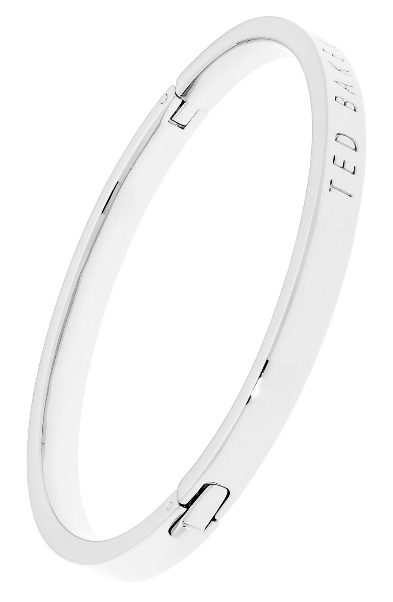 Metallic Hinge Bangle Bracelet,                             Alternate thumbnail 4, color,