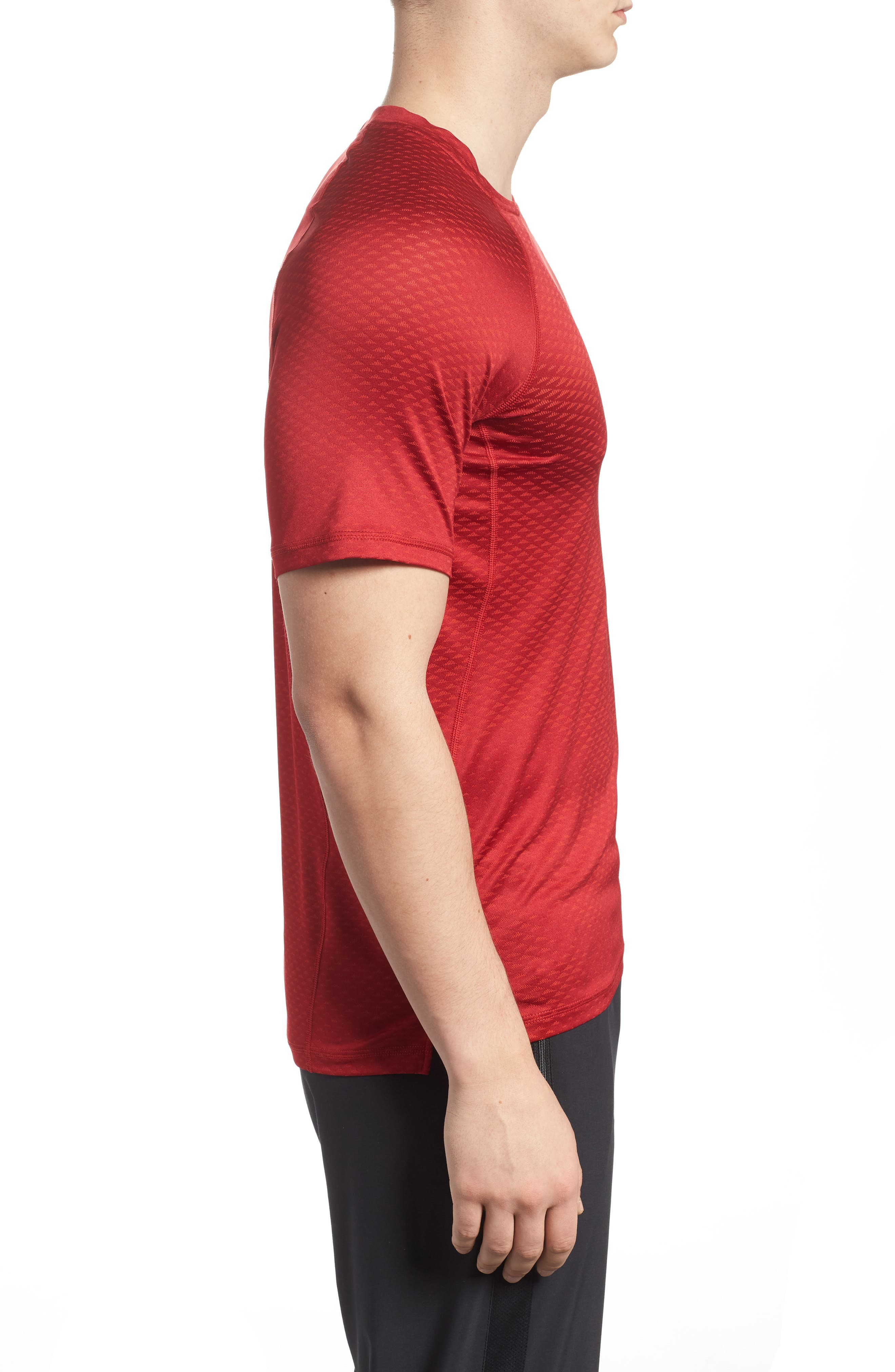 Pro HyperCool Fitted Crewneck T-Shirt,                             Alternate thumbnail 9, color,
