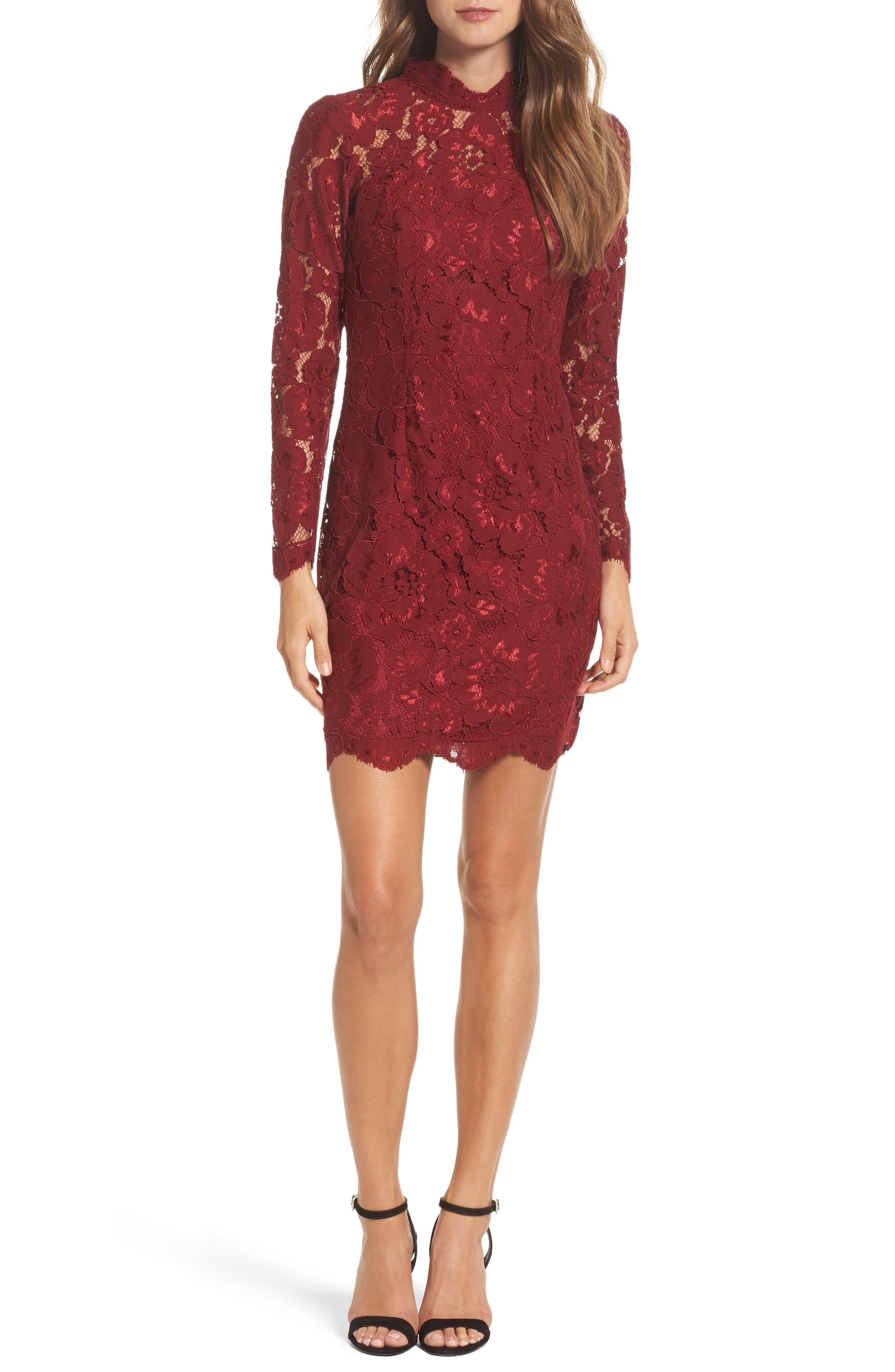 Lace Sheath Dress,                         Main,                         color,