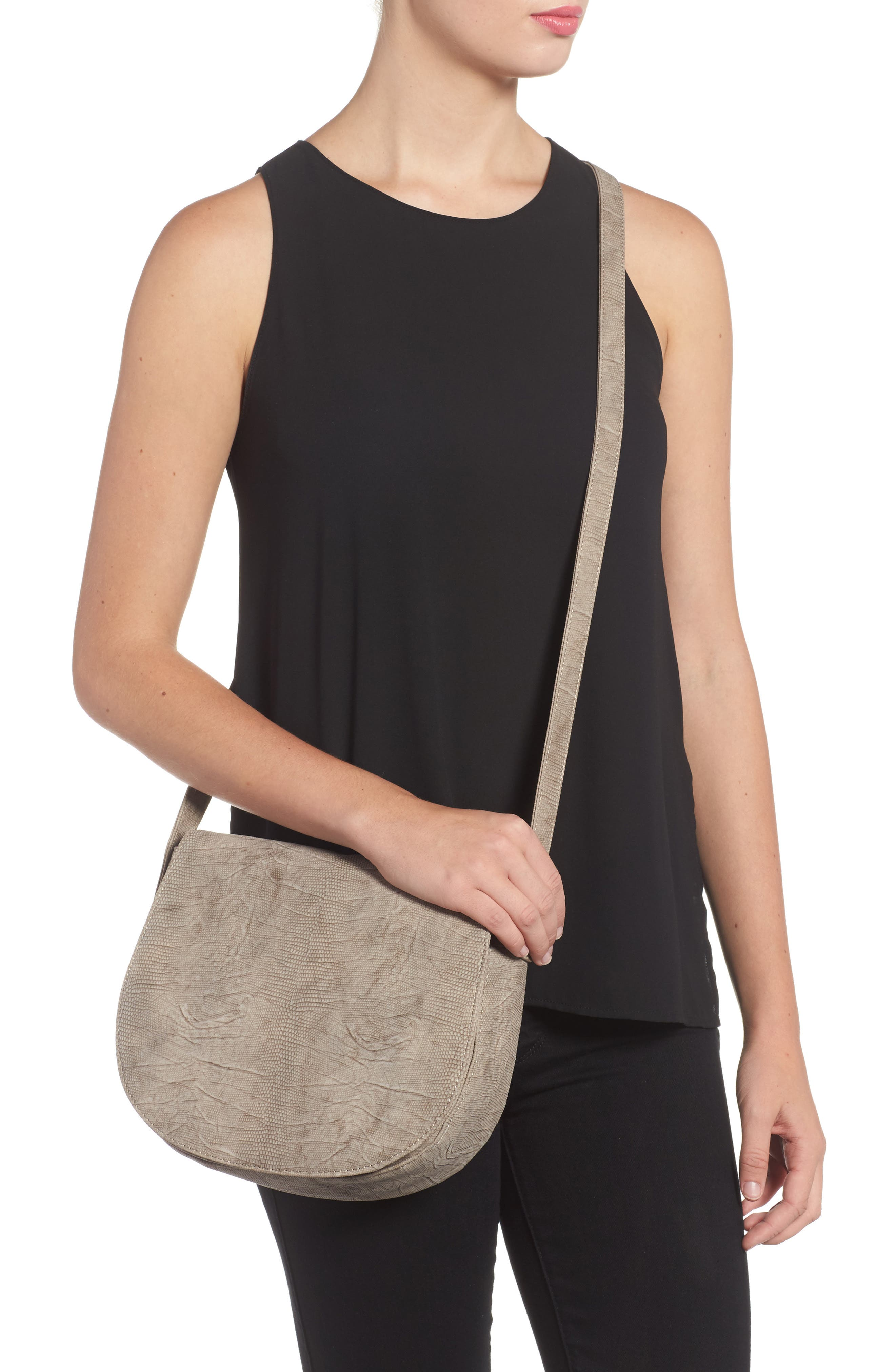 Livvy Faux Leather Crossbody Saddle Bag,                             Alternate thumbnail 2, color,                             250