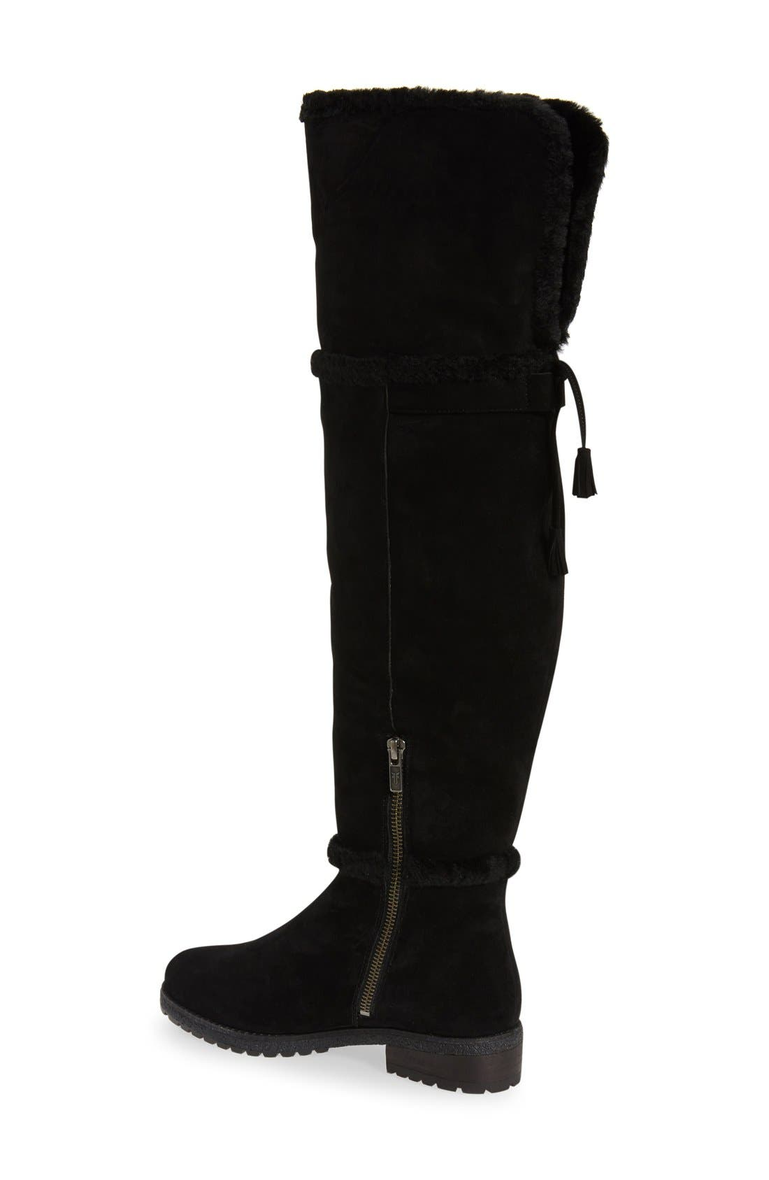 'Tamara' Genuine Shearling Over the Knee Boot,                             Alternate thumbnail 4, color,