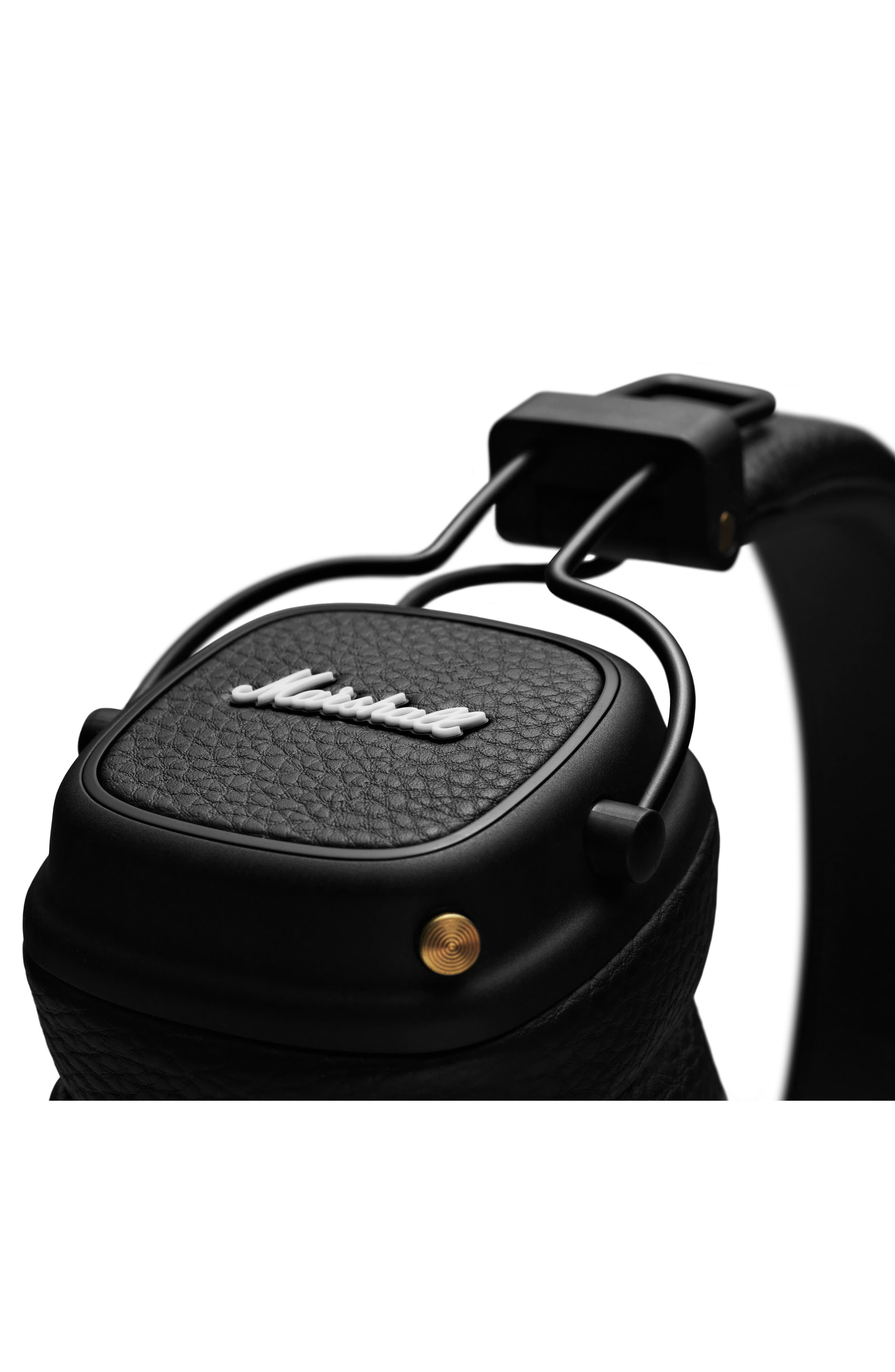 Major III Bluetooth<sup>®</sup> Headphones,                             Alternate thumbnail 2, color,                             BLACK