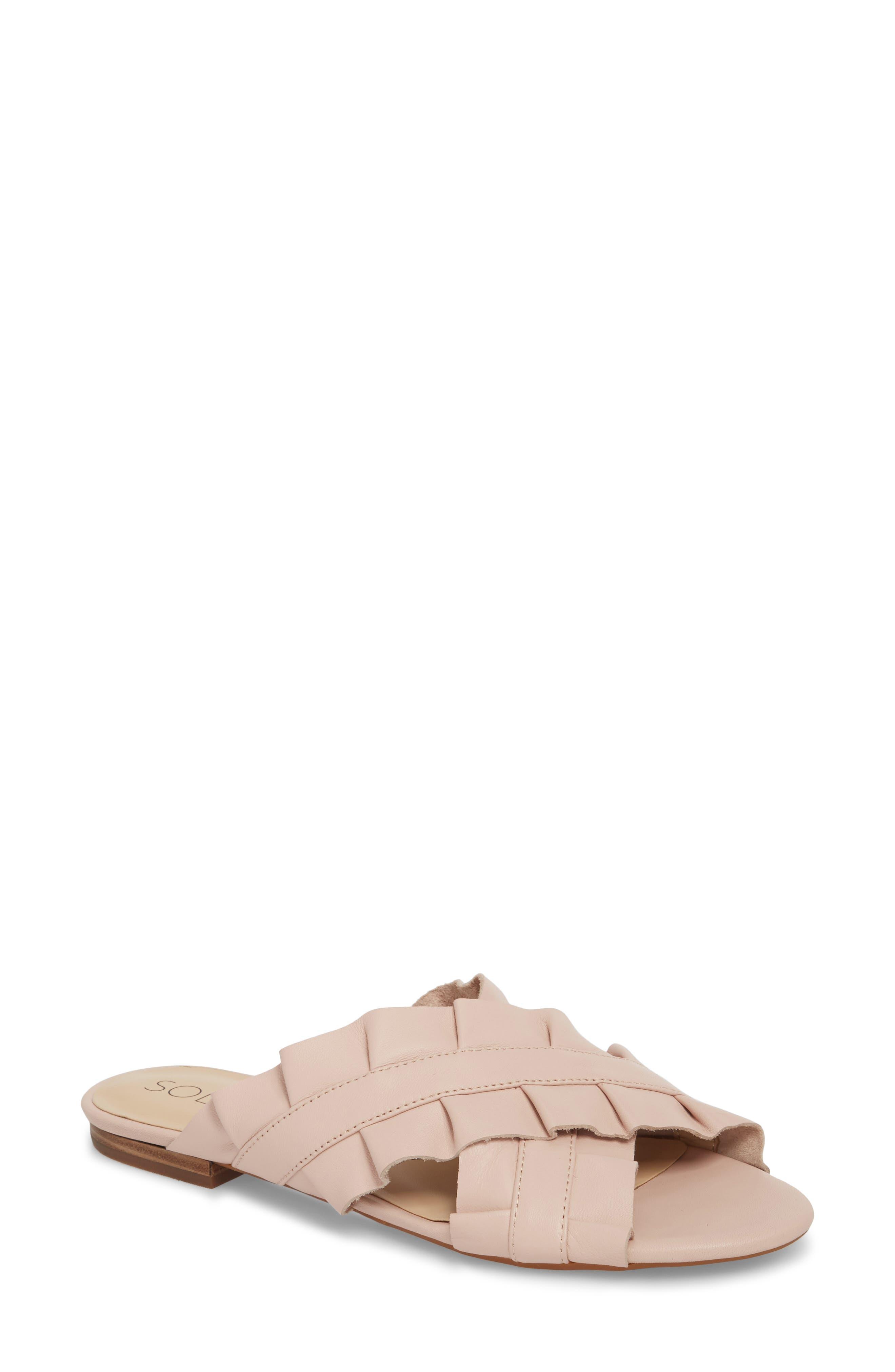 Mandi Slide Sandal,                             Main thumbnail 1, color,                             SPRING BLUSH