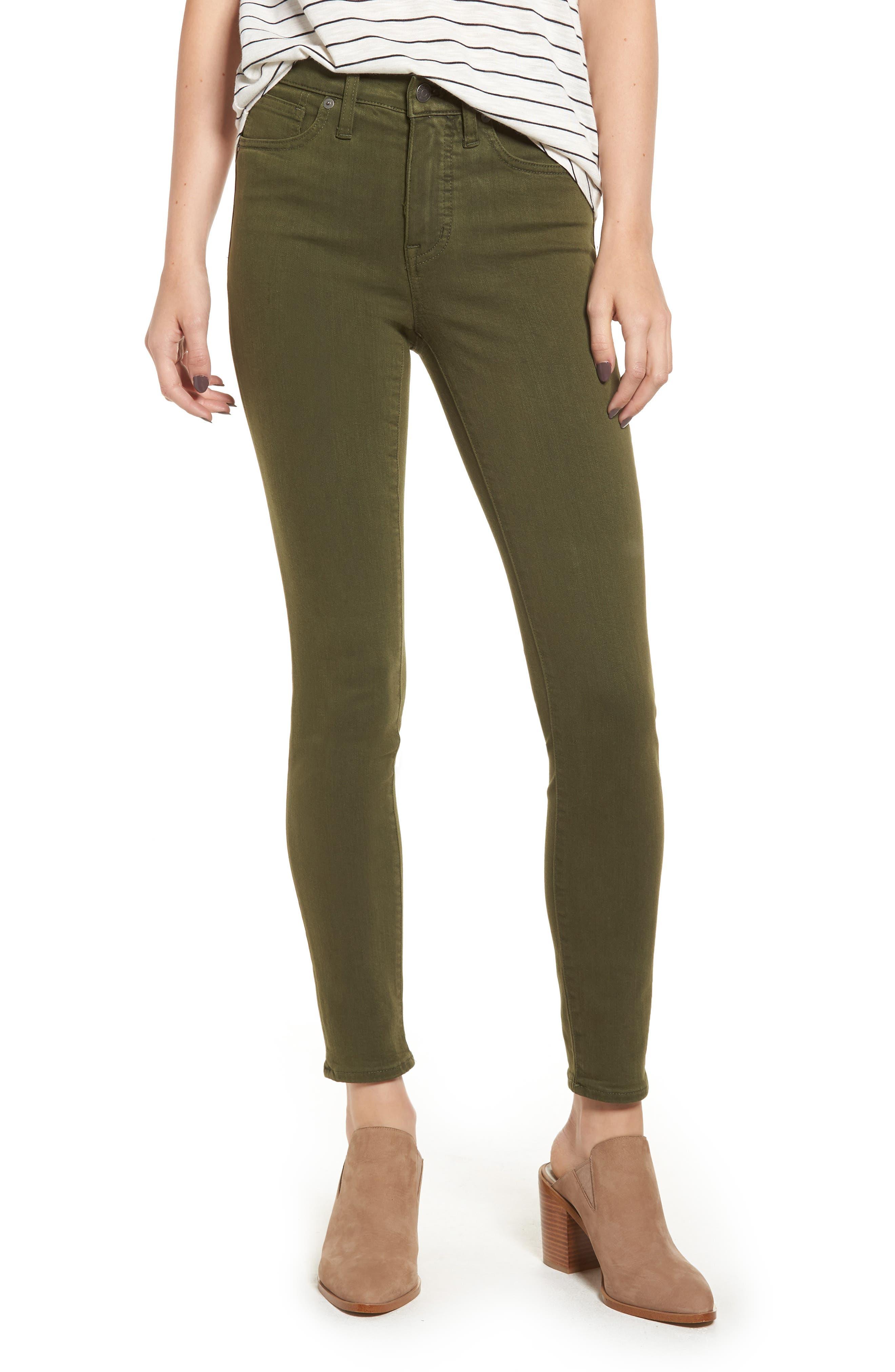 High Waist Skinny Jeans, Main, color, 300