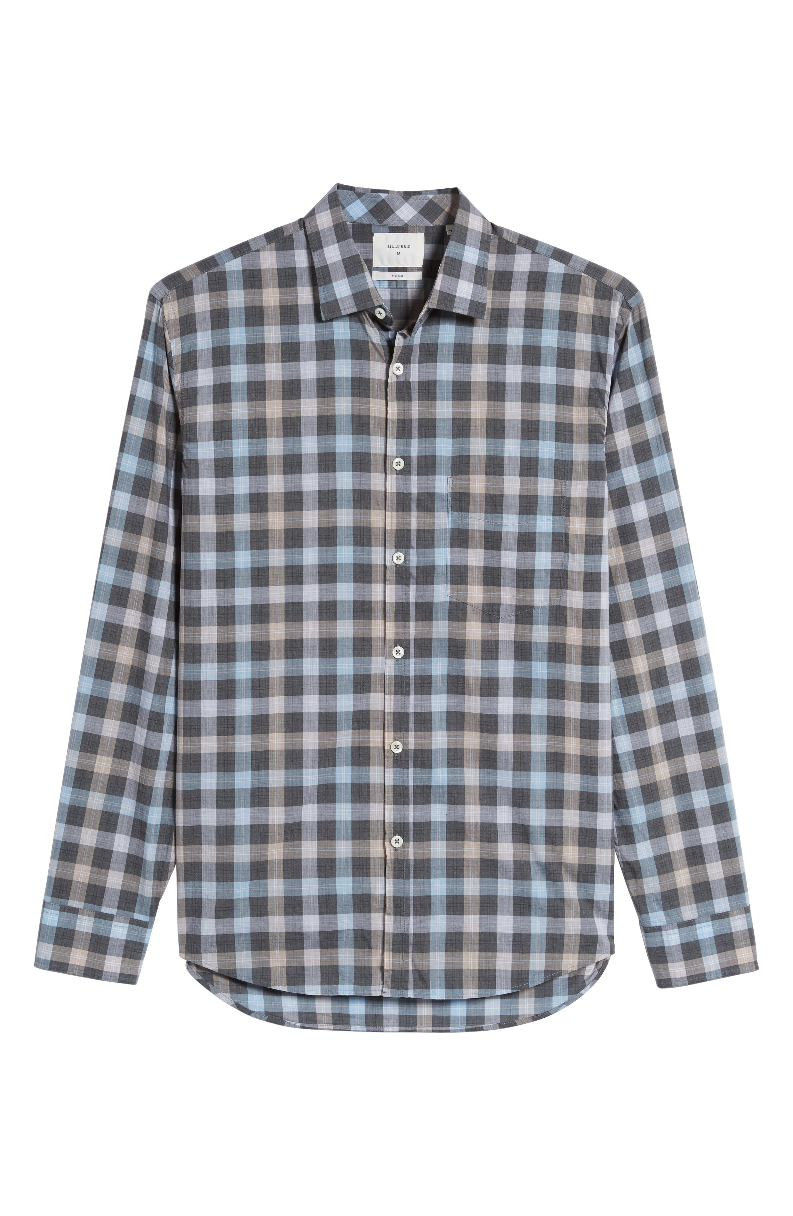 John T Standard Fit Check Sport Shirt,                             Alternate thumbnail 6, color,                             400
