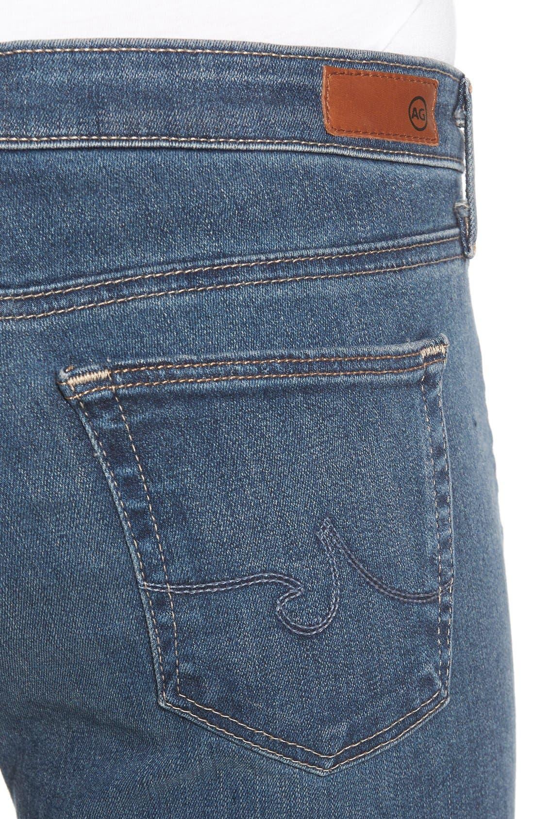 The Legging Ankle Super Skinny Jeans,                             Alternate thumbnail 4, color,                             401