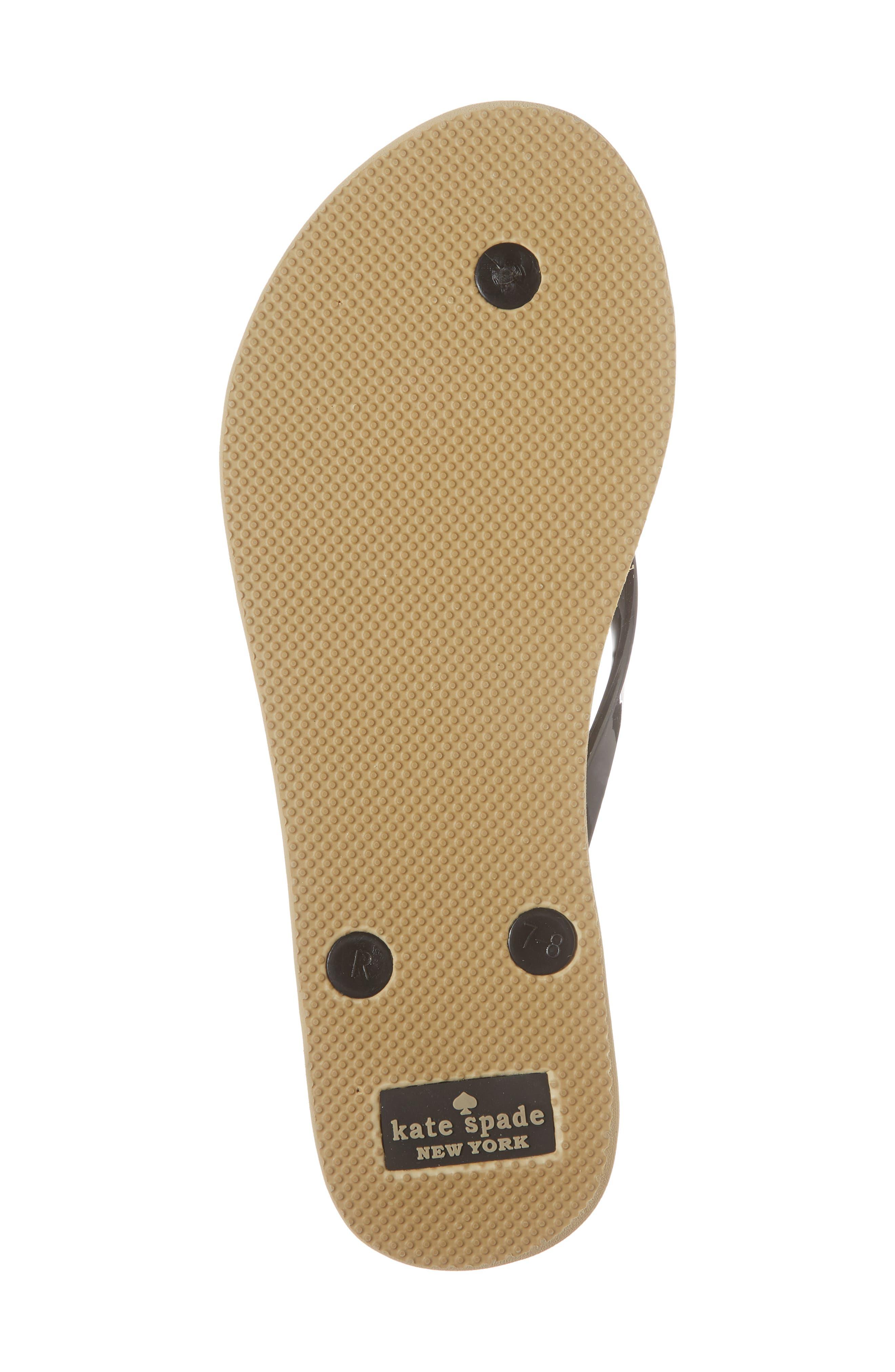 'nova' flip flop,                             Alternate thumbnail 6, color,                             BLACK LEOPARD PRINT