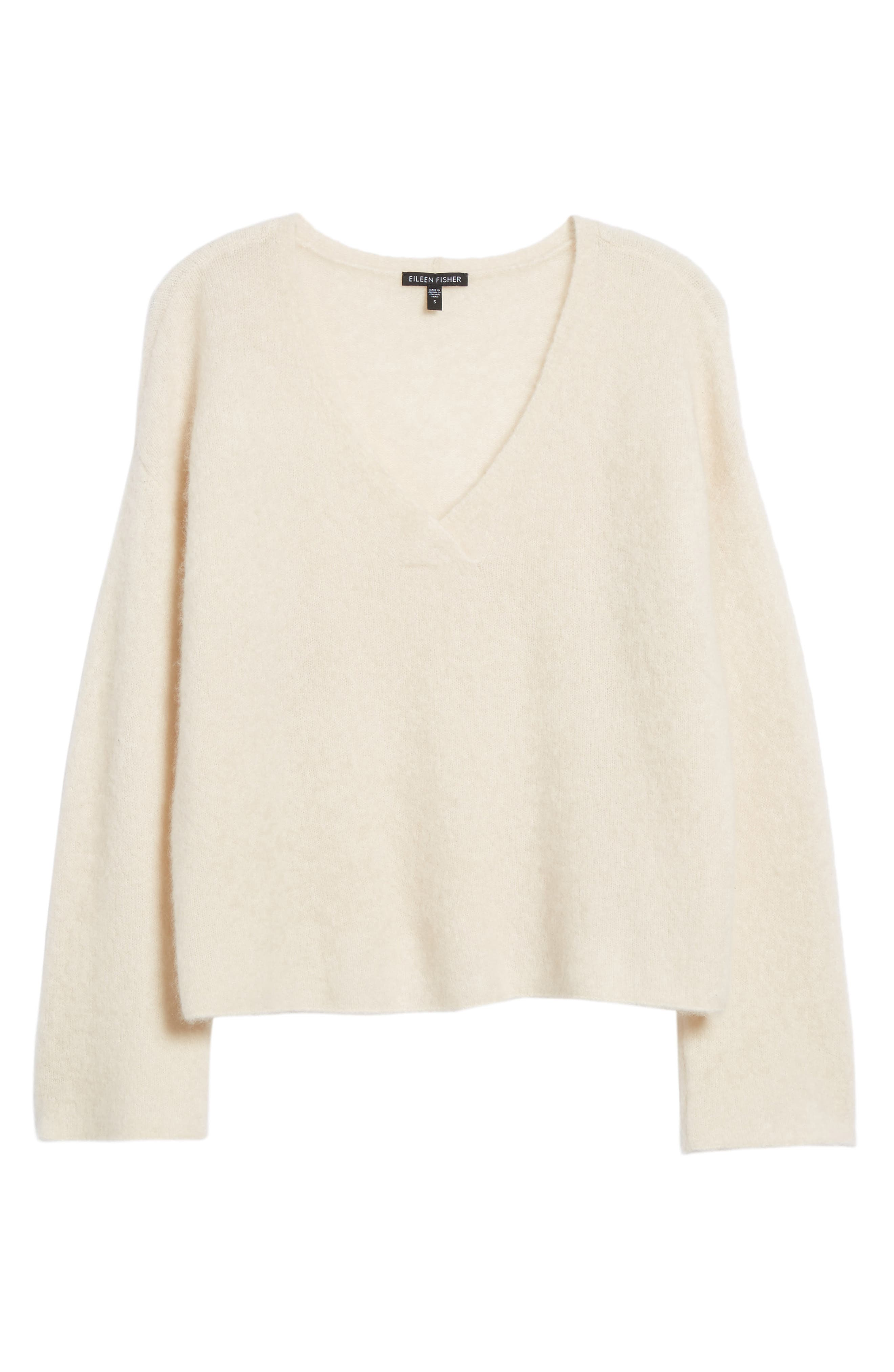 Boxy Cashmere Blend Sweater,                             Alternate thumbnail 6, color,                             103