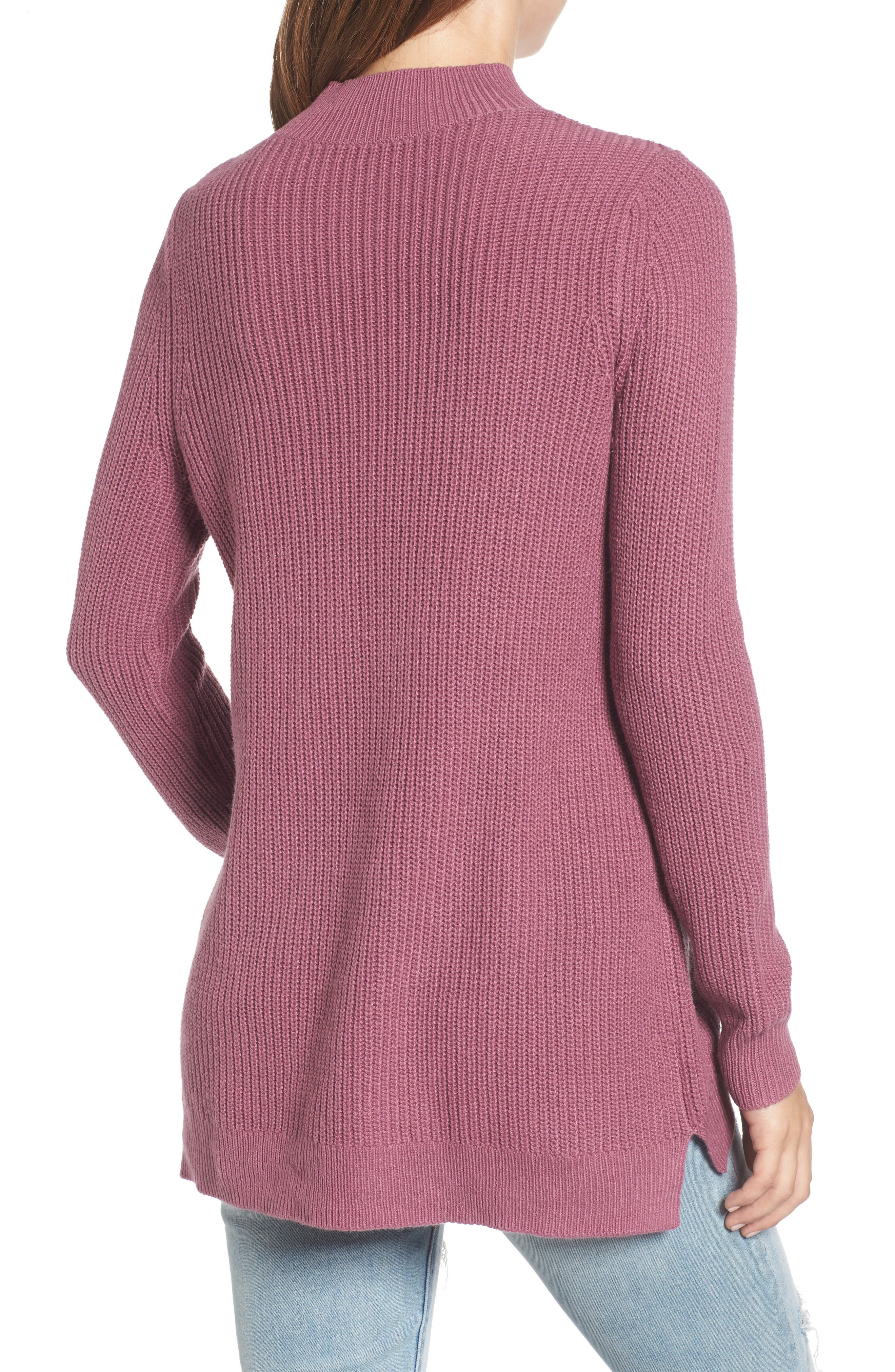 Mock Neck Tunic Sweater,                             Alternate thumbnail 14, color,