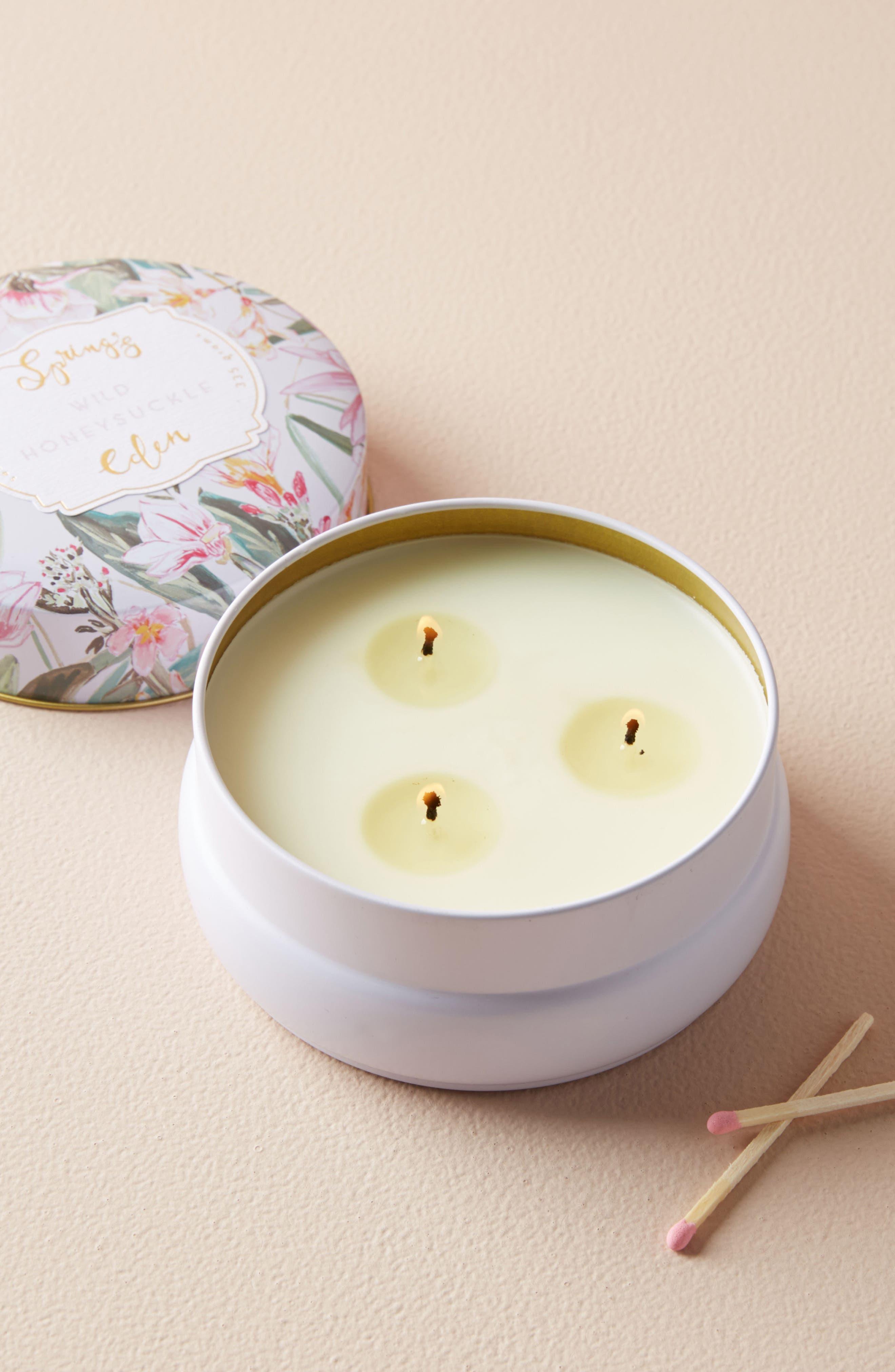Spring's Eden Candle Tin,                         Main,                         color, 500