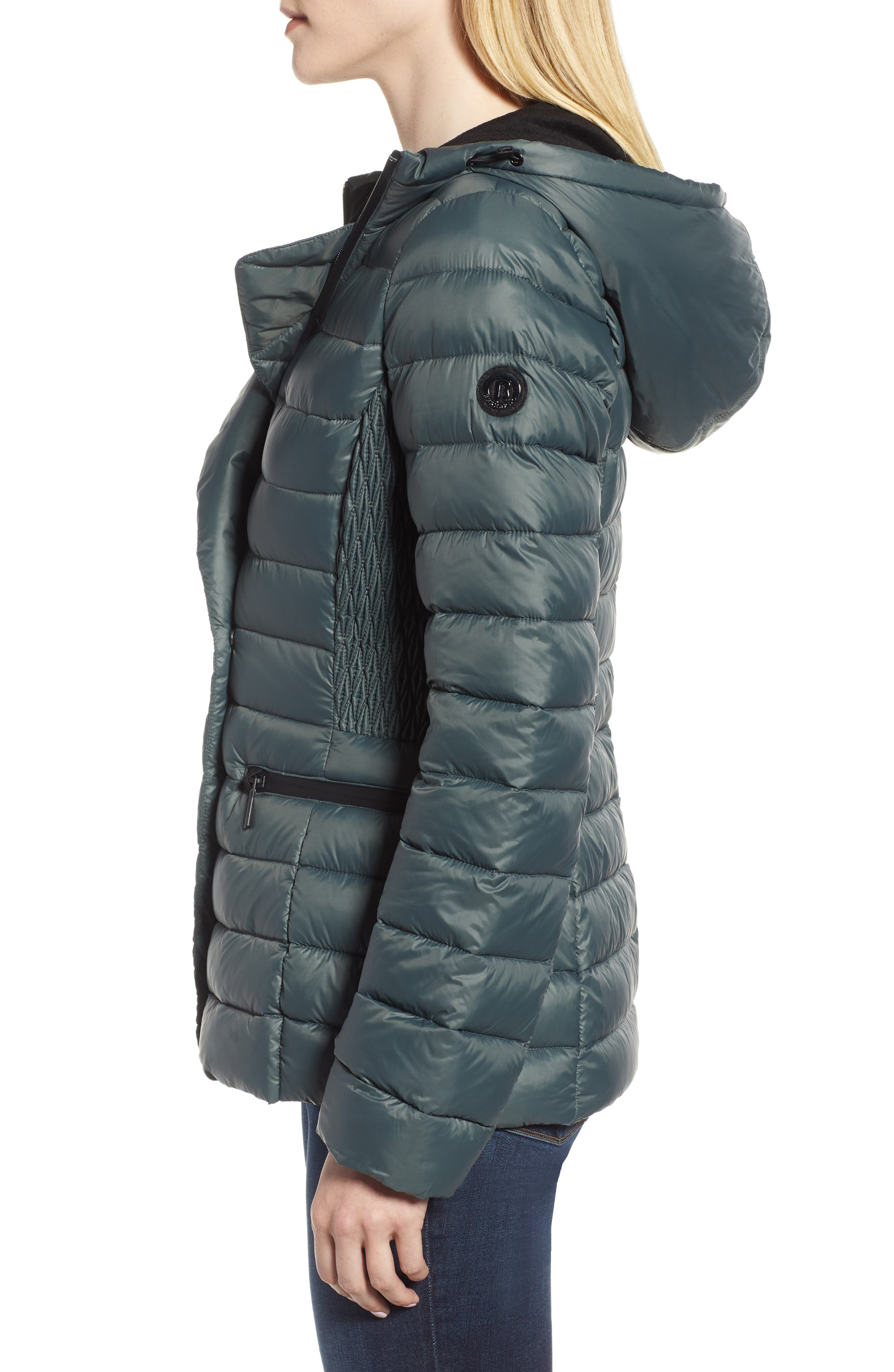 Sporty Hooded Puffer Jacket,                             Alternate thumbnail 3, color,                             309