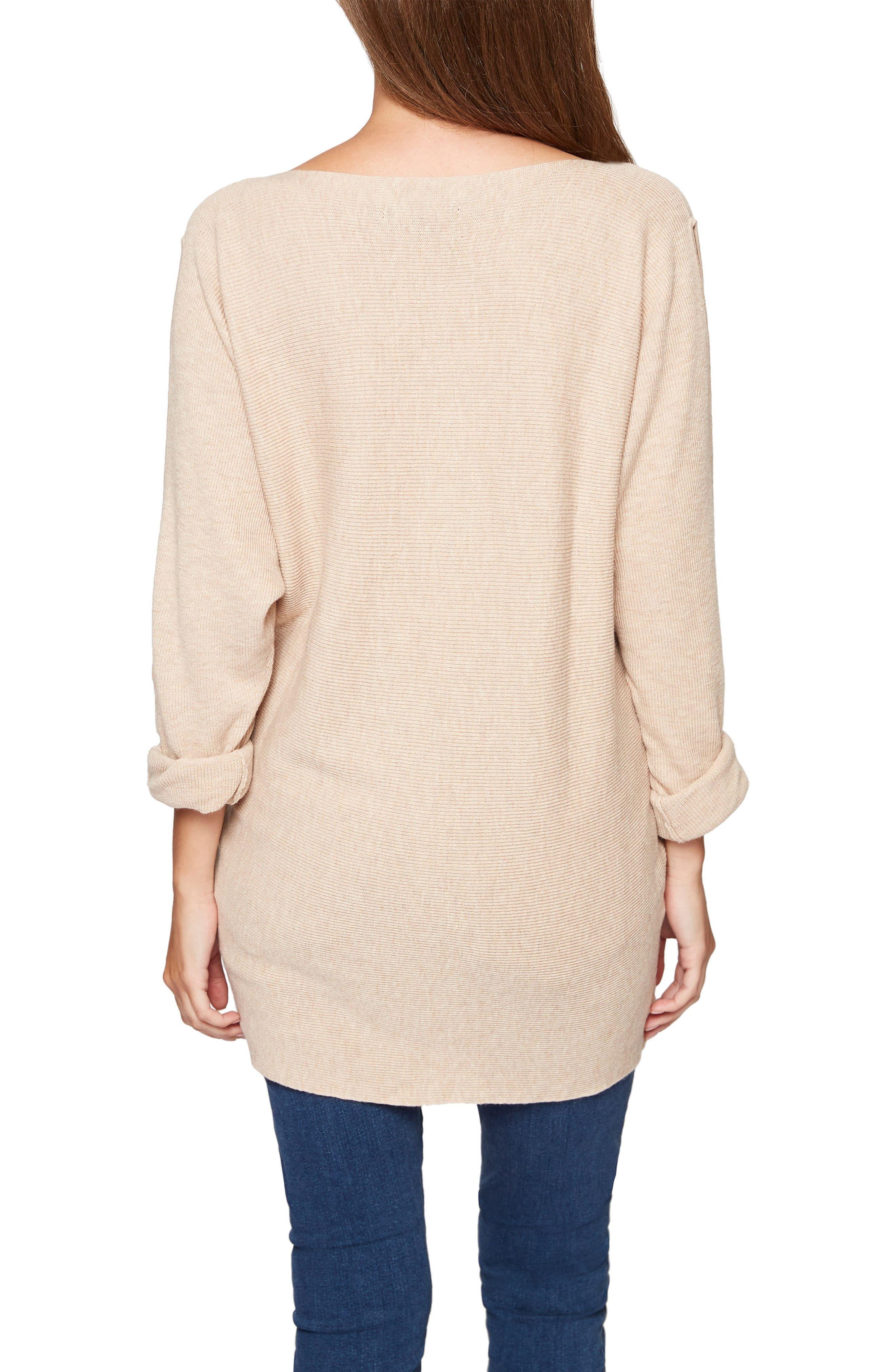 Sancutary Gillian Bare Shoulder Cutout Tunic Sweater,                             Alternate thumbnail 2, color,                             259