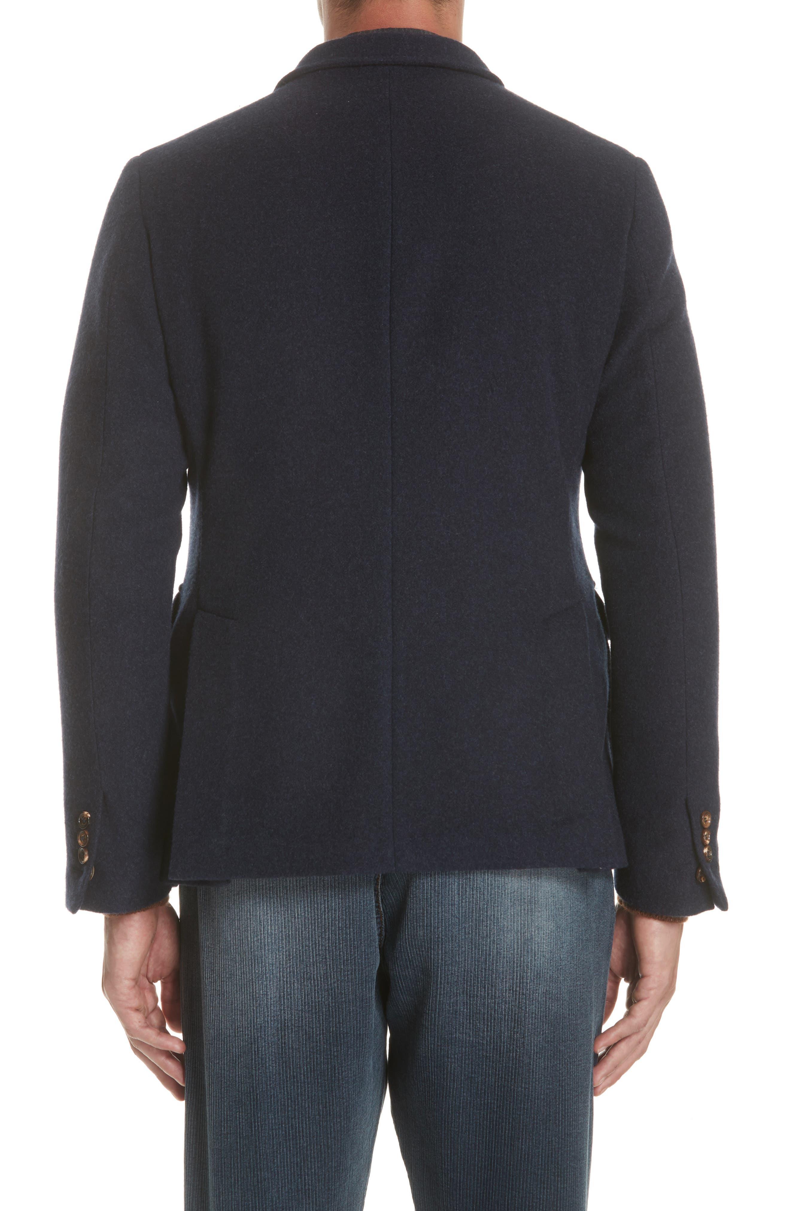 Wool & Cashmere Coat,                             Alternate thumbnail 2, color,                             NAVY
