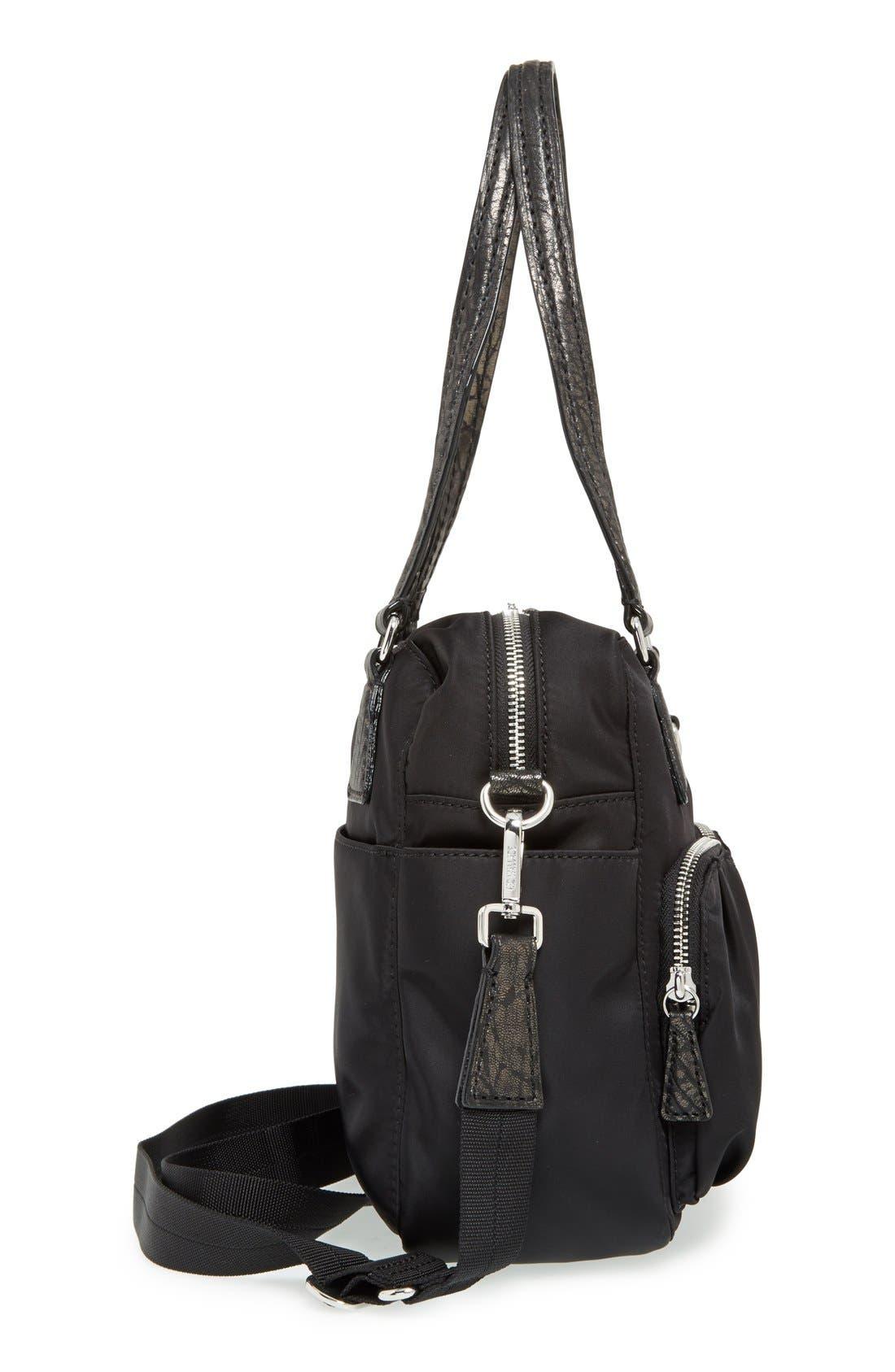 'Small Roxy' Bedford Nylon Shoulder Bag,                             Alternate thumbnail 5, color,                             001