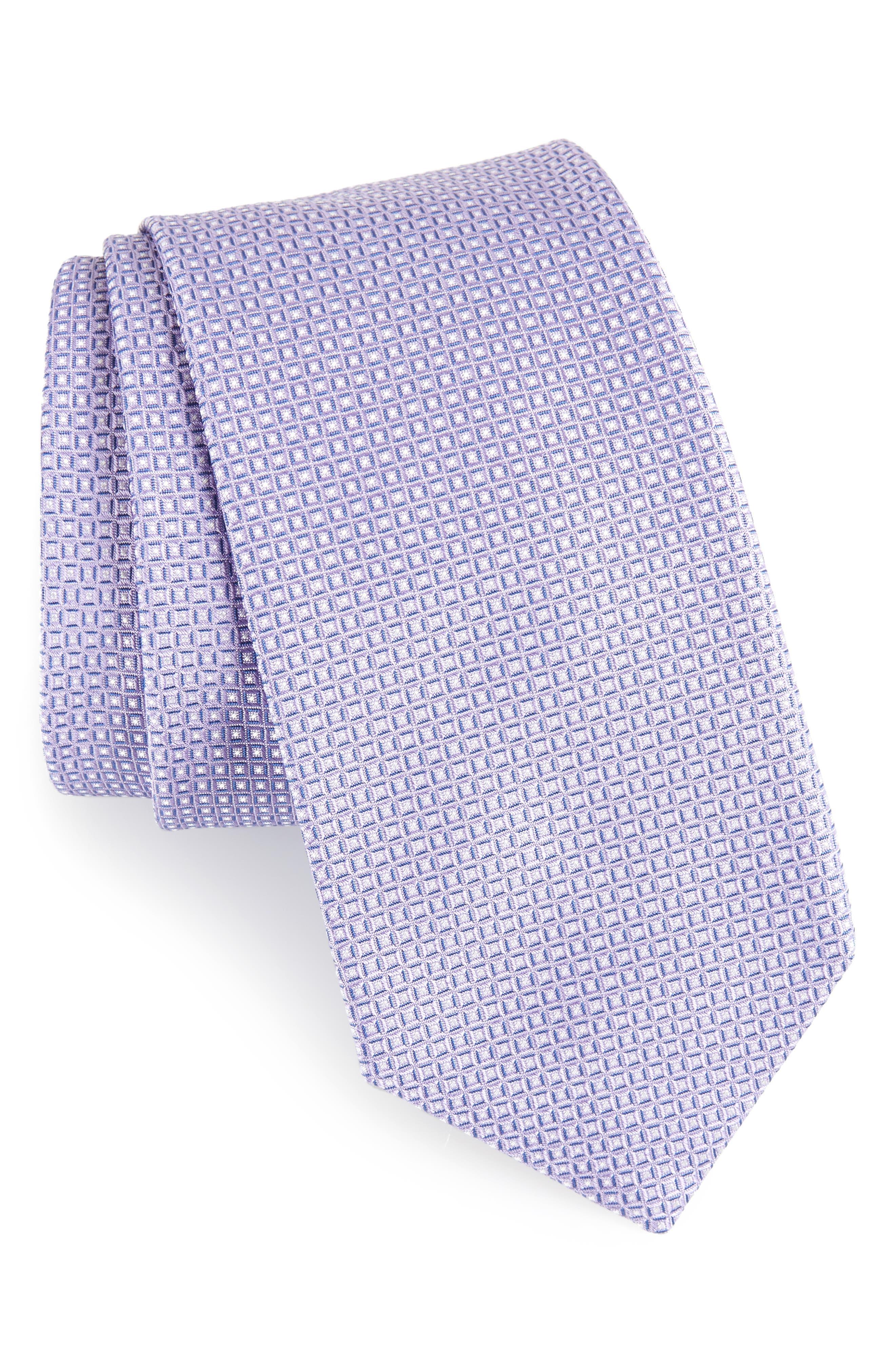 Geometric Silk Tie,                             Main thumbnail 1, color,                             530