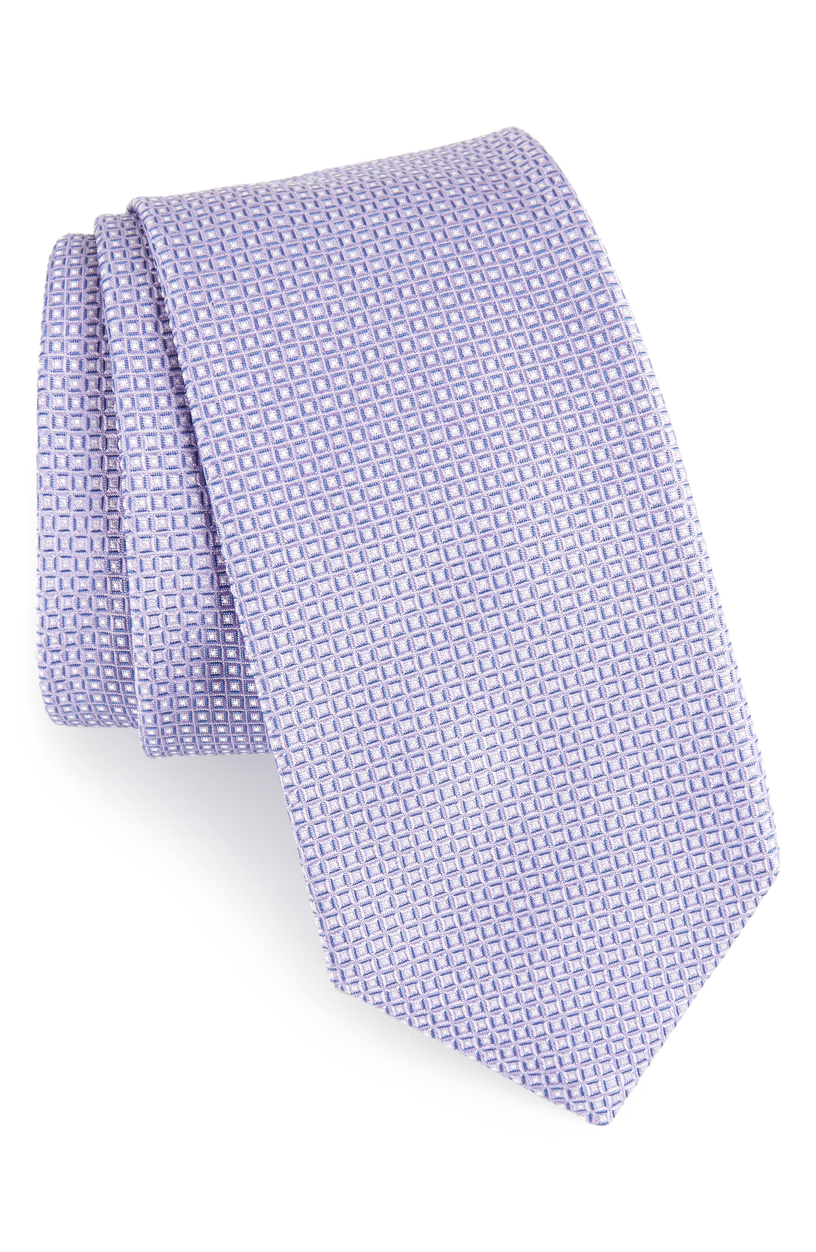 Geometric Silk Tie,                         Main,                         color, 530