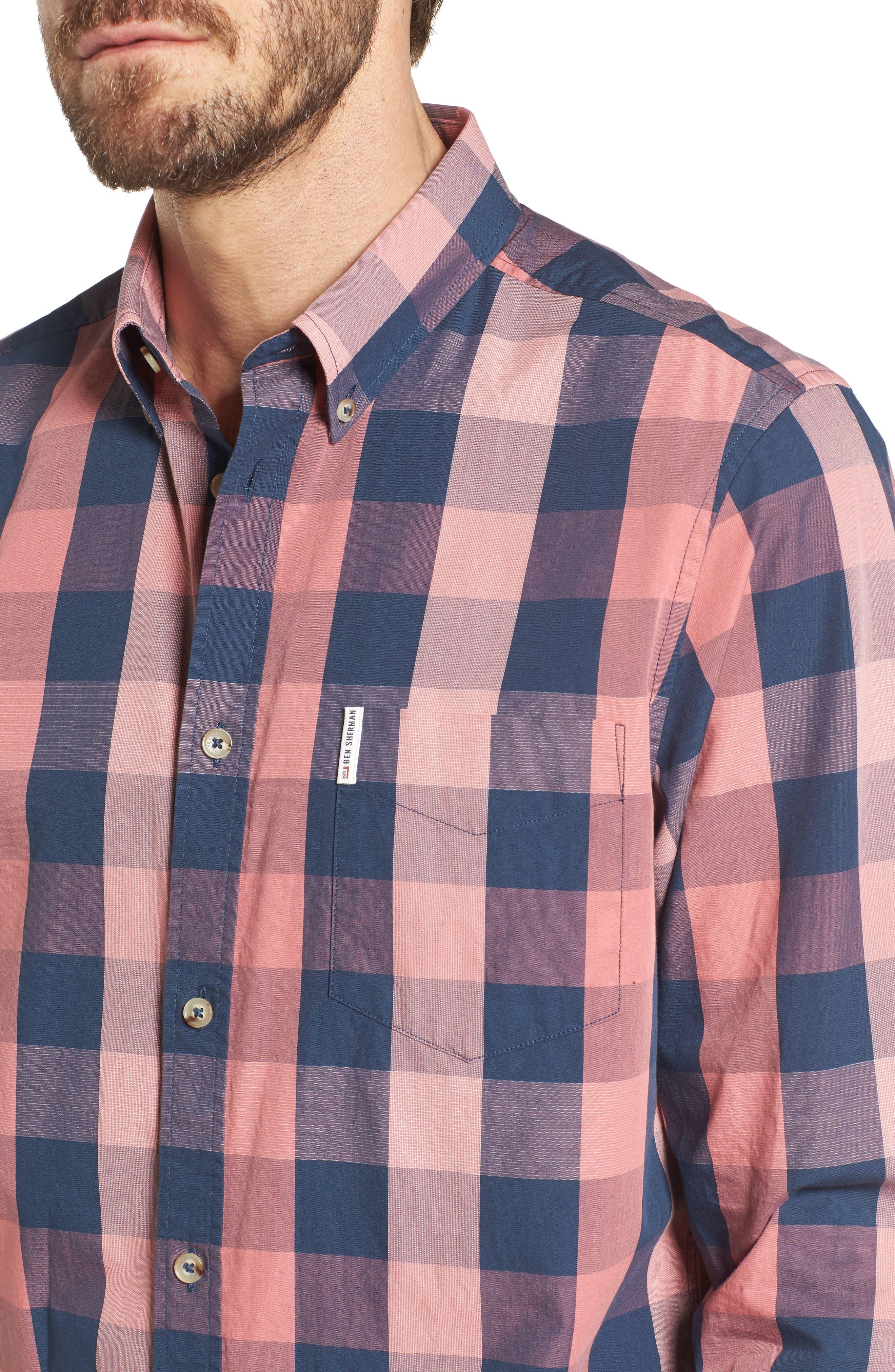 Buffalo Check Woven Shirt,                             Alternate thumbnail 4, color,